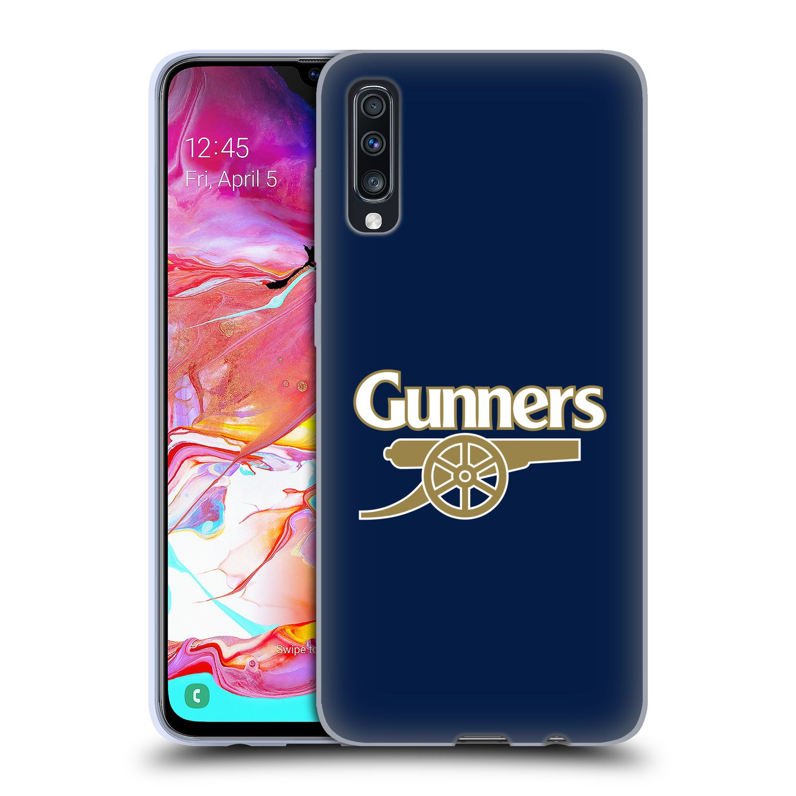 Silikonové pouzdro na mobil Samsung Galaxy A70 - Head Case - Arsenal FC - Gunners