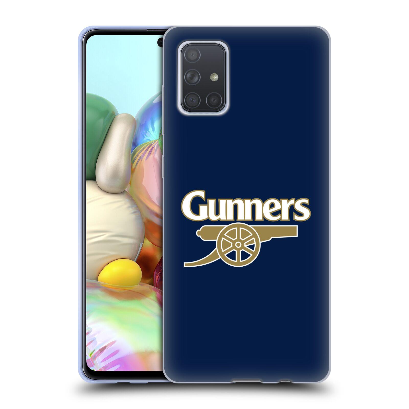 Silikonové pouzdro na mobil Samsung Galaxy A71 - Head Case - Arsenal FC - Gunners