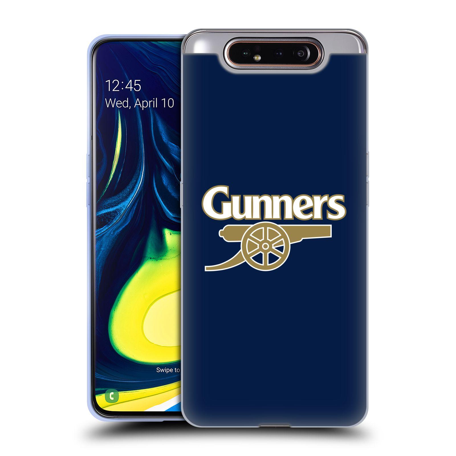 Silikonové pouzdro na mobil Samsung Galaxy A80 - Head Case - Arsenal FC - Gunners