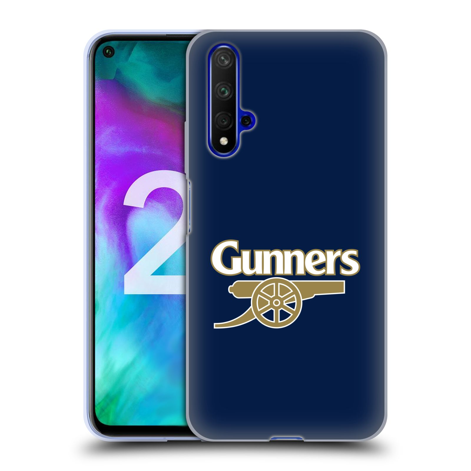 Silikonové pouzdro na mobil Honor 20 - Head Case - Arsenal FC - Gunners