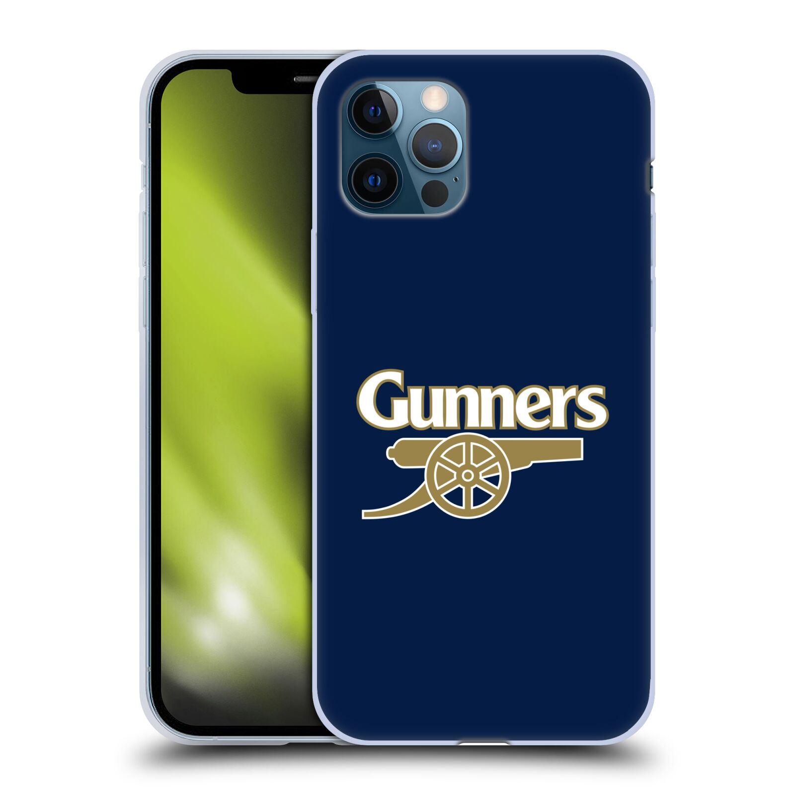 Silikonové pouzdro na mobil Apple iPhone 12 / 12 Pro - Head Case - Arsenal FC - Gunners