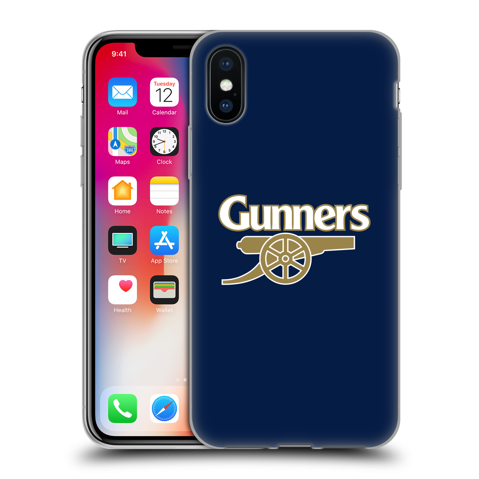 Silikonové pouzdro na mobil Apple iPhone XS - Head Case - Arsenal FC - Gunners