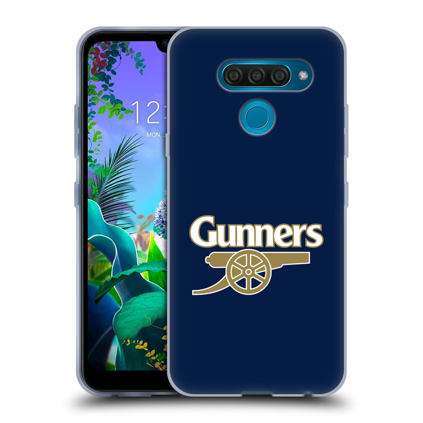 Silikonové pouzdro na mobil LG Q60 - Head Case - Arsenal FC - Gunners