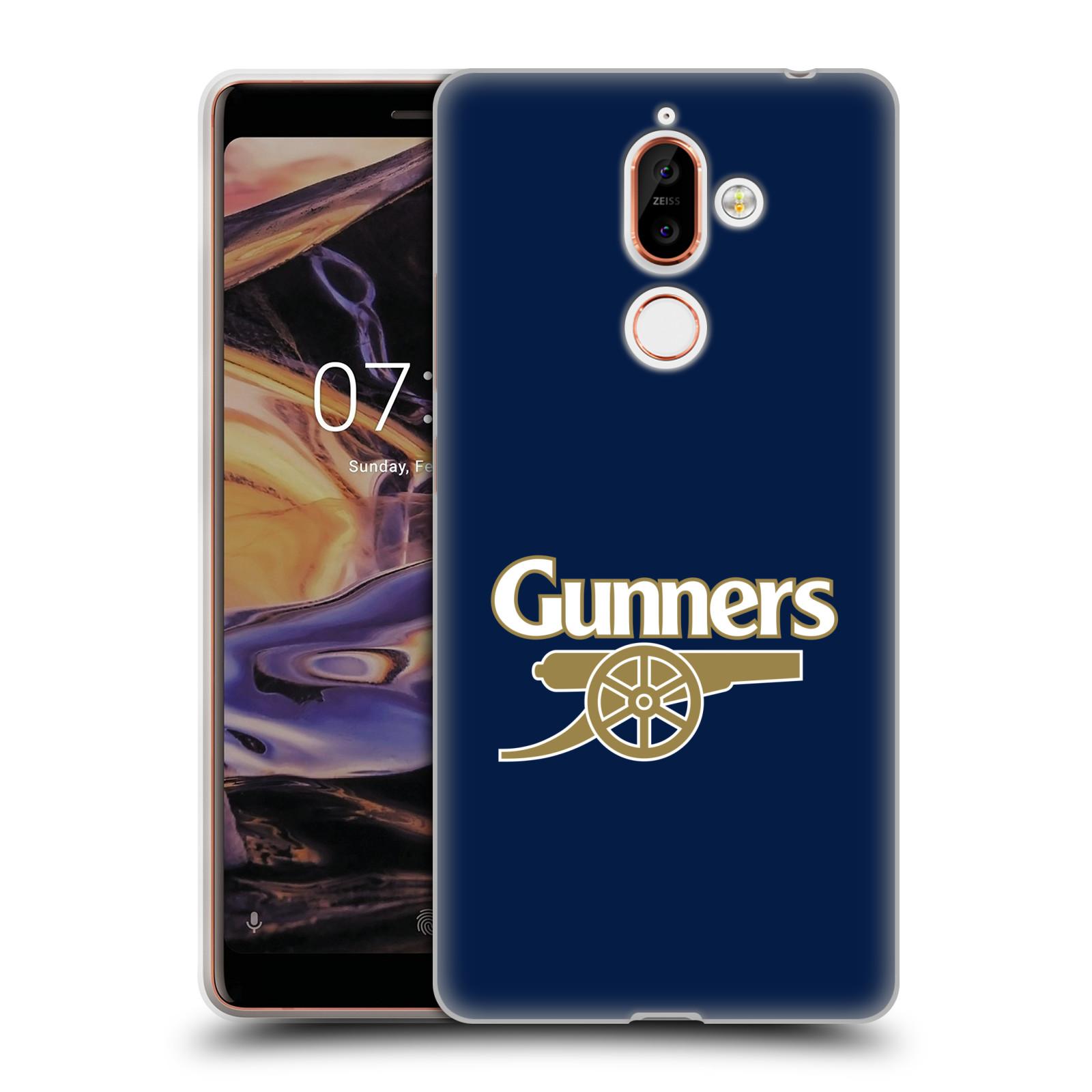 Silikonové pouzdro na mobil Nokia 7 Plus - Head Case - Arsenal FC - Gunners