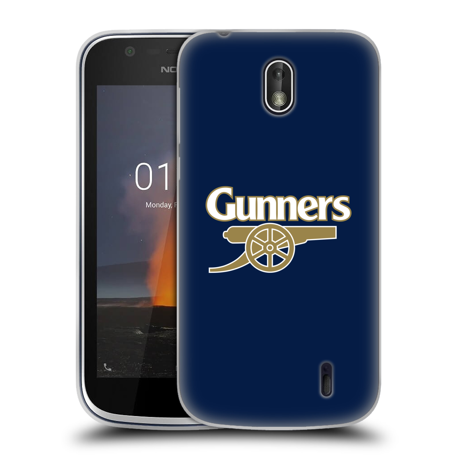 Silikonové pouzdro na mobil Nokia 1 - Head Case - Arsenal FC - Gunners