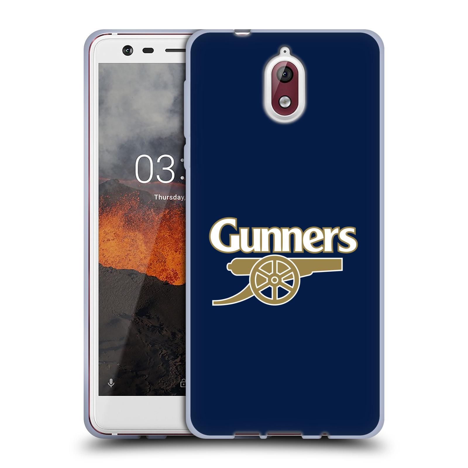 Silikonové pouzdro na mobil Nokia 3.1 - Head Case - Arsenal FC - Gunners