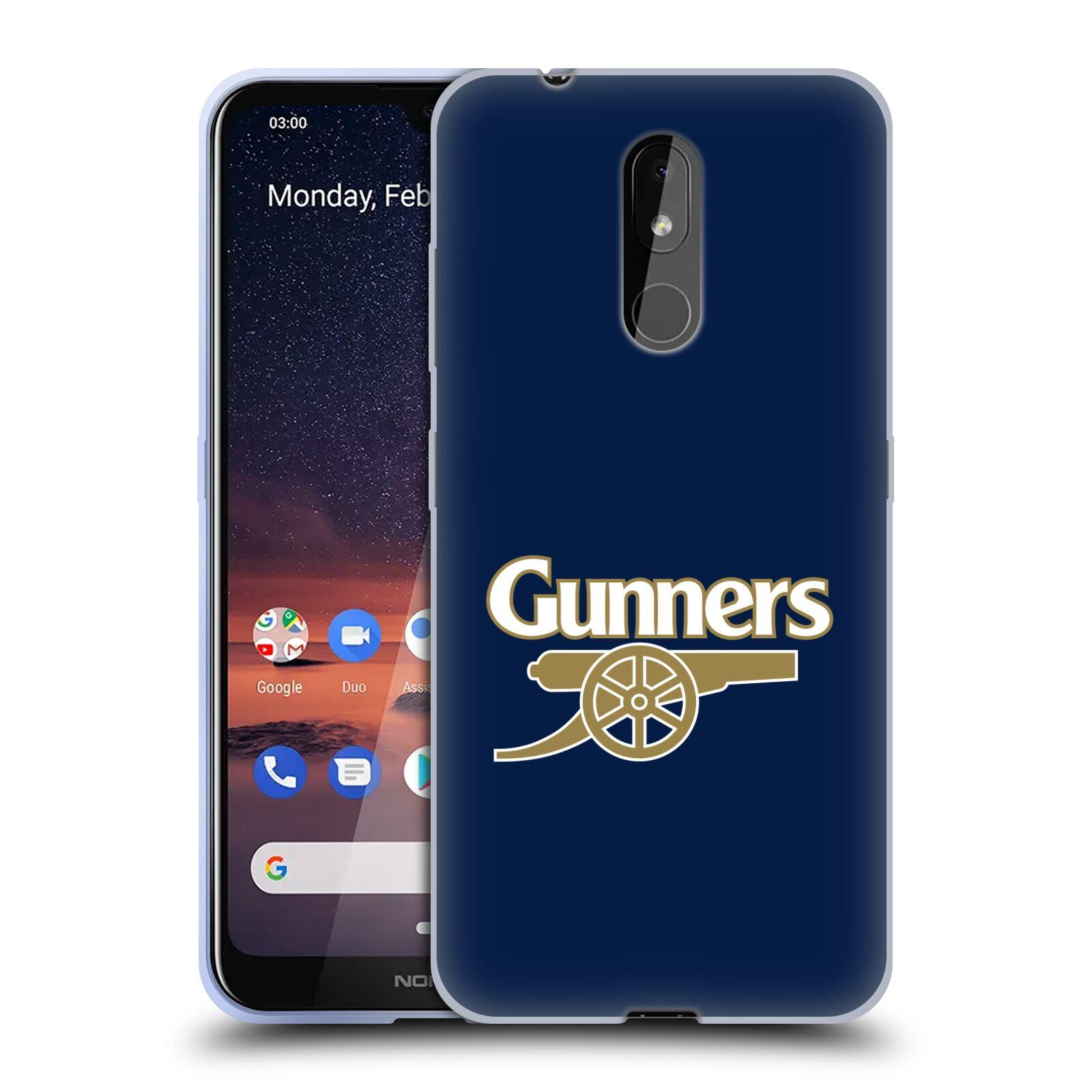 Silikonové pouzdro na mobil Nokia 3.2 - Head Case - Arsenal FC - Gunners