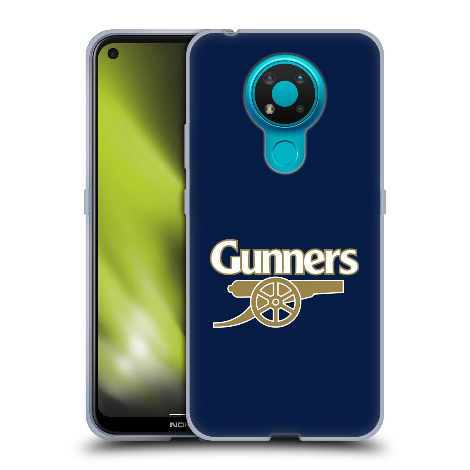Silikonové pouzdro na mobil Nokia 3.4 - Head Case - Arsenal FC - Gunners