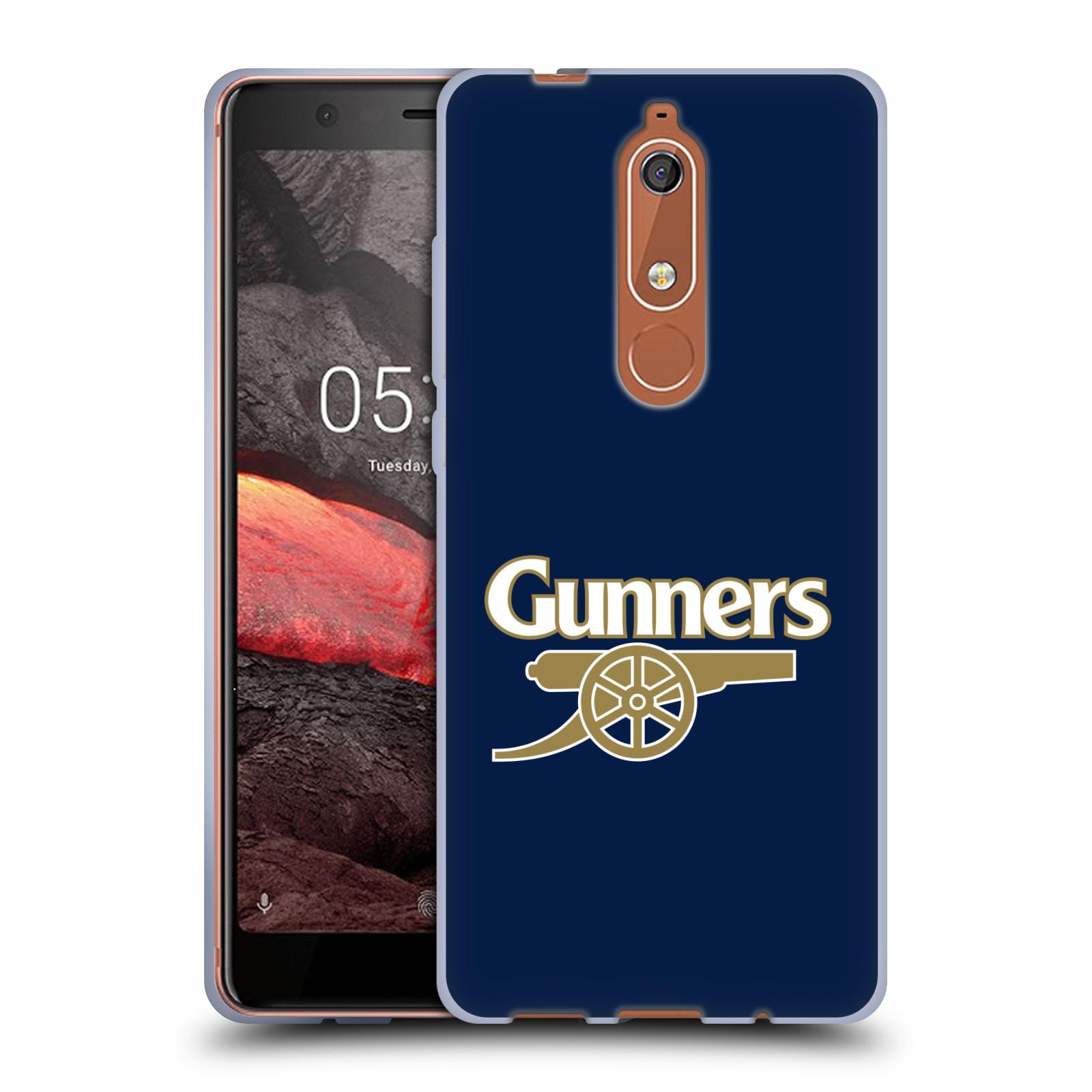 Silikonové pouzdro na mobil Nokia 5.1 - Head Case - Arsenal FC - Gunners