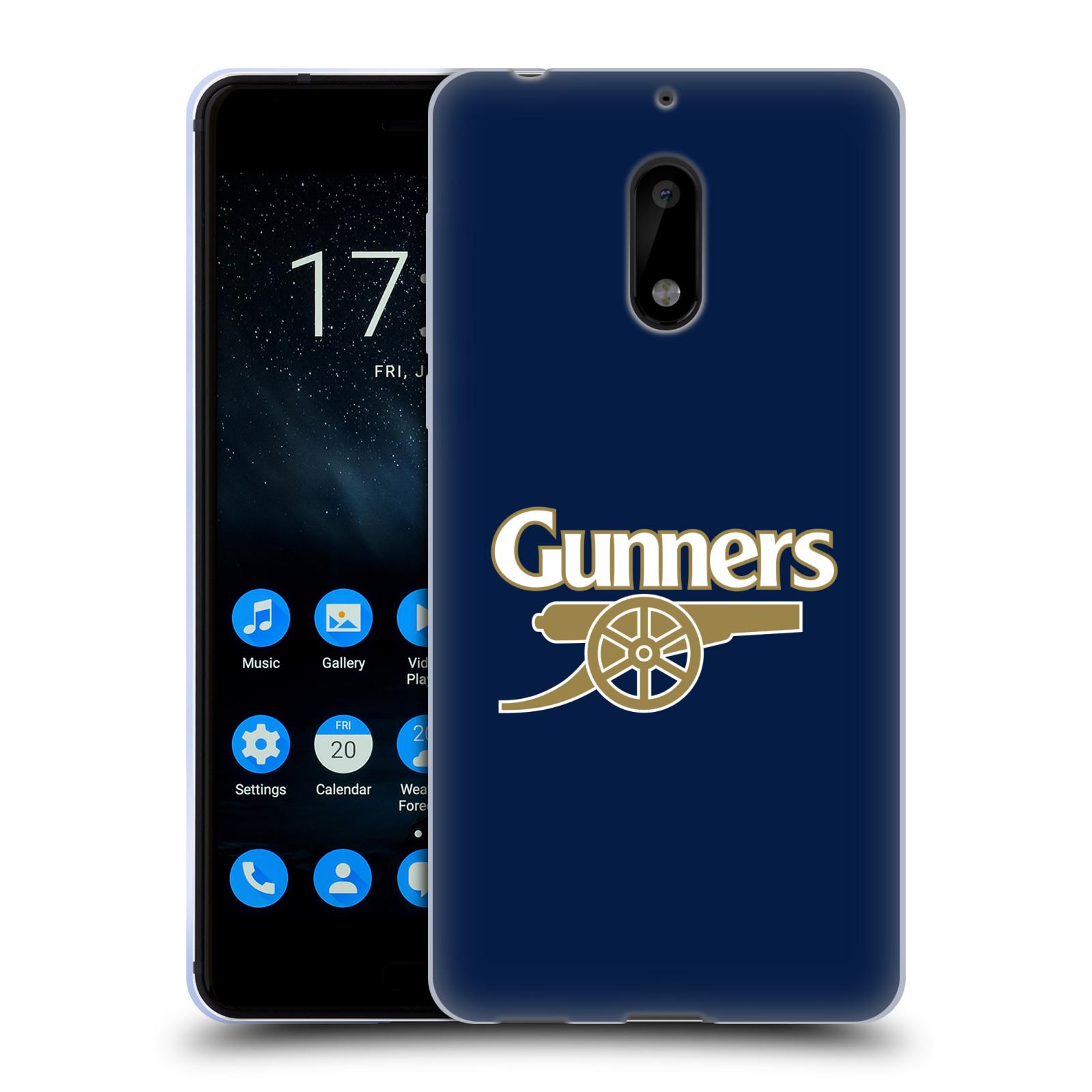 Silikonové pouzdro na mobil Nokia 6 - Head Case - Arsenal FC - Gunners