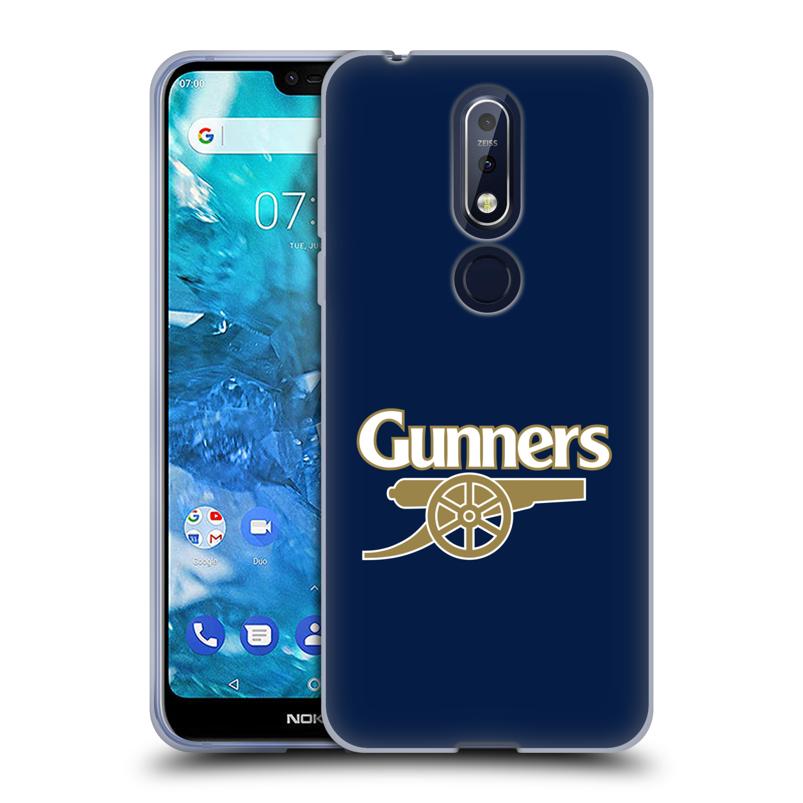 Silikonové pouzdro na mobil Nokia 7.1 - Head Case - Arsenal FC - Gunners