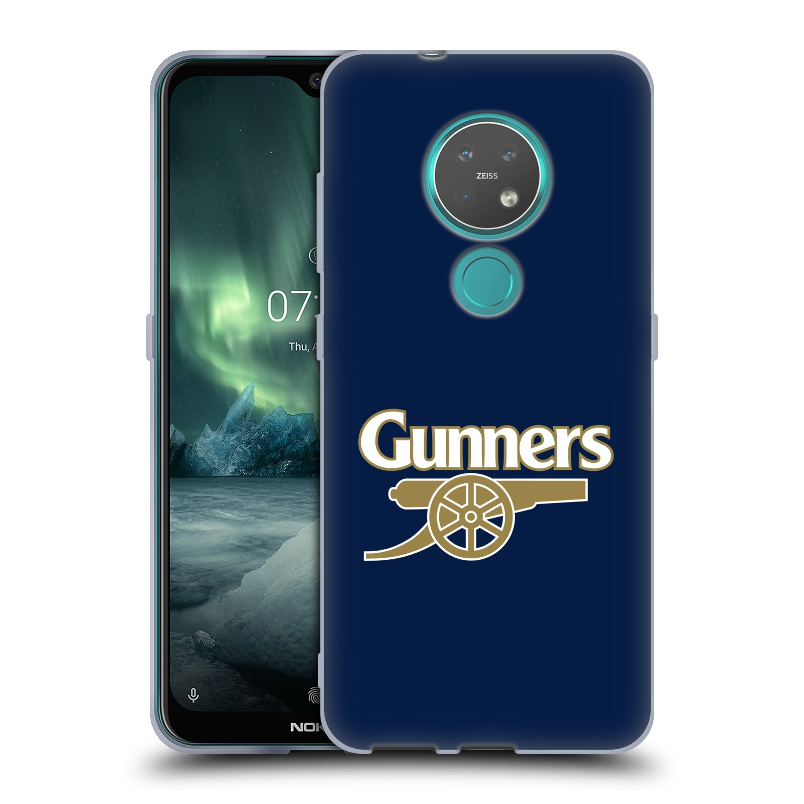 Silikonové pouzdro na mobil Nokia 7.2 - Head Case - Arsenal FC - Gunners