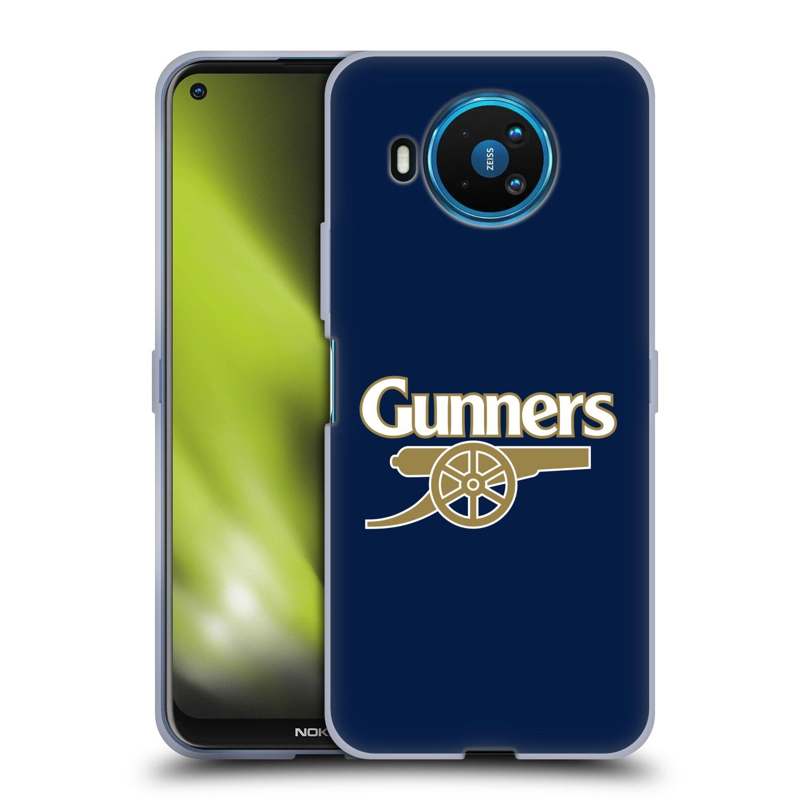 Silikonové pouzdro na mobil Nokia 8.3 5G - Head Case - Arsenal FC - Gunners