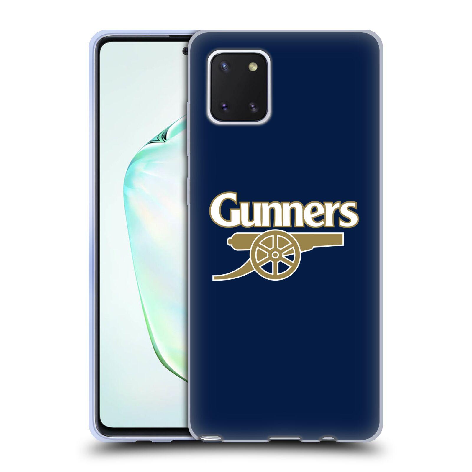 Silikonové pouzdro na mobil Samsung Galaxy Note 10 Lite - Head Case - Arsenal FC - Gunners