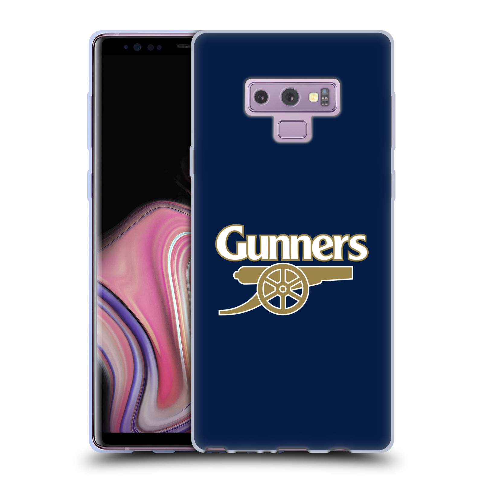 Silikonové pouzdro na mobil Samsung Galaxy Note 9 - Head Case - Arsenal FC - Gunners