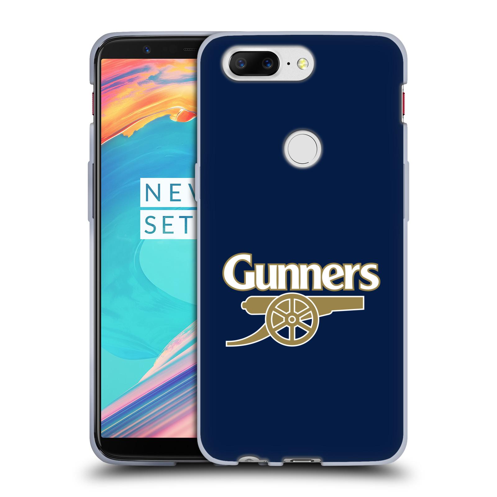 Silikonové pouzdro na mobil OnePlus 5T - Head Case - Arsenal FC - Gunners