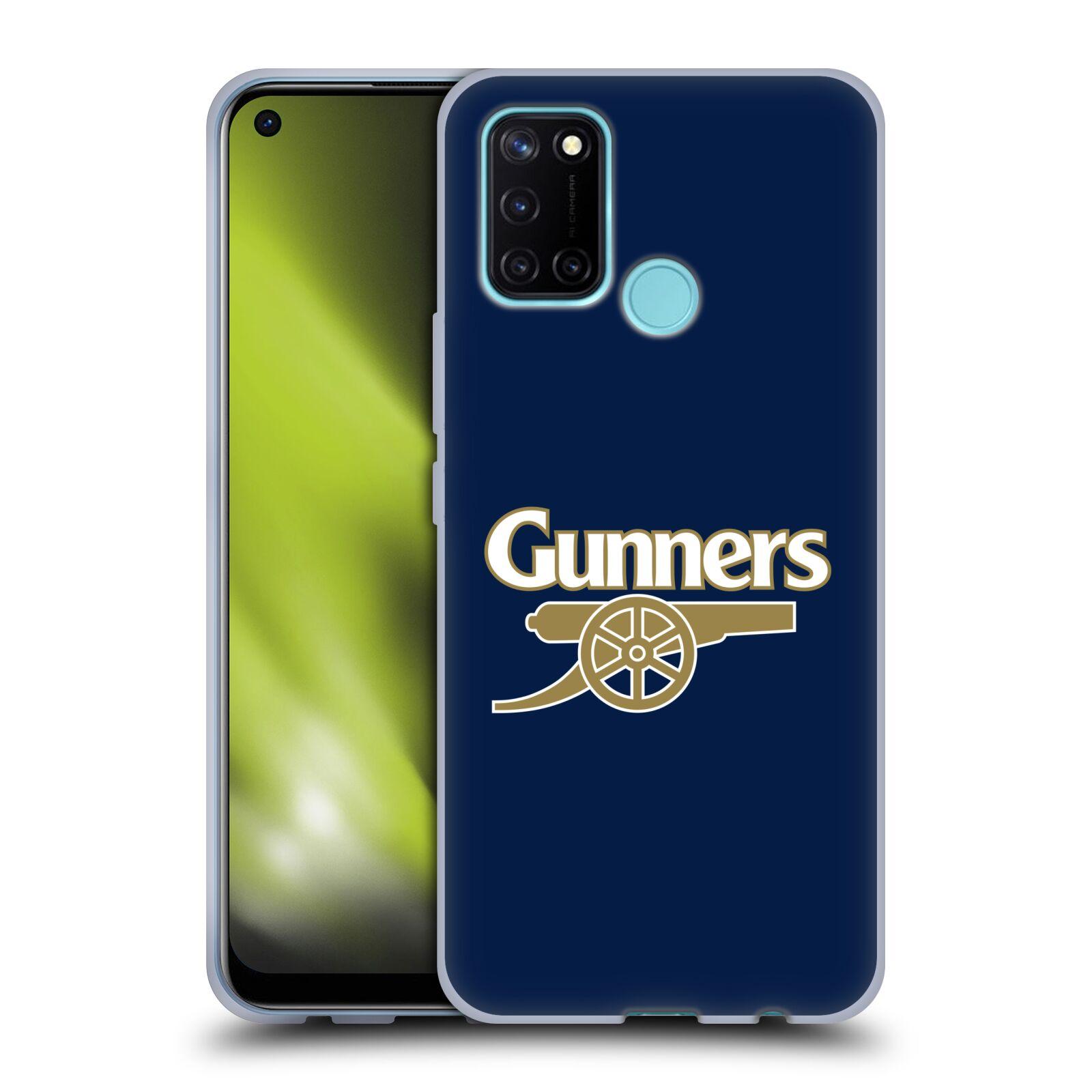 Silikonové pouzdro na mobil Realme 7i - Head Case - Arsenal FC - Gunners
