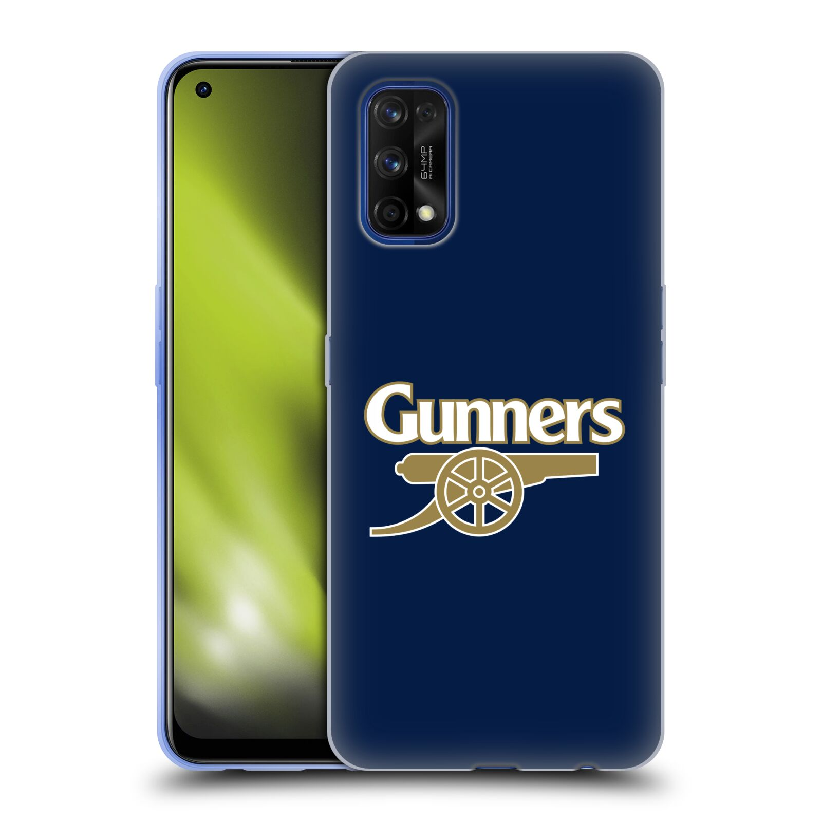 Silikonové pouzdro na mobil Realme 7 Pro - Head Case - Arsenal FC - Gunners