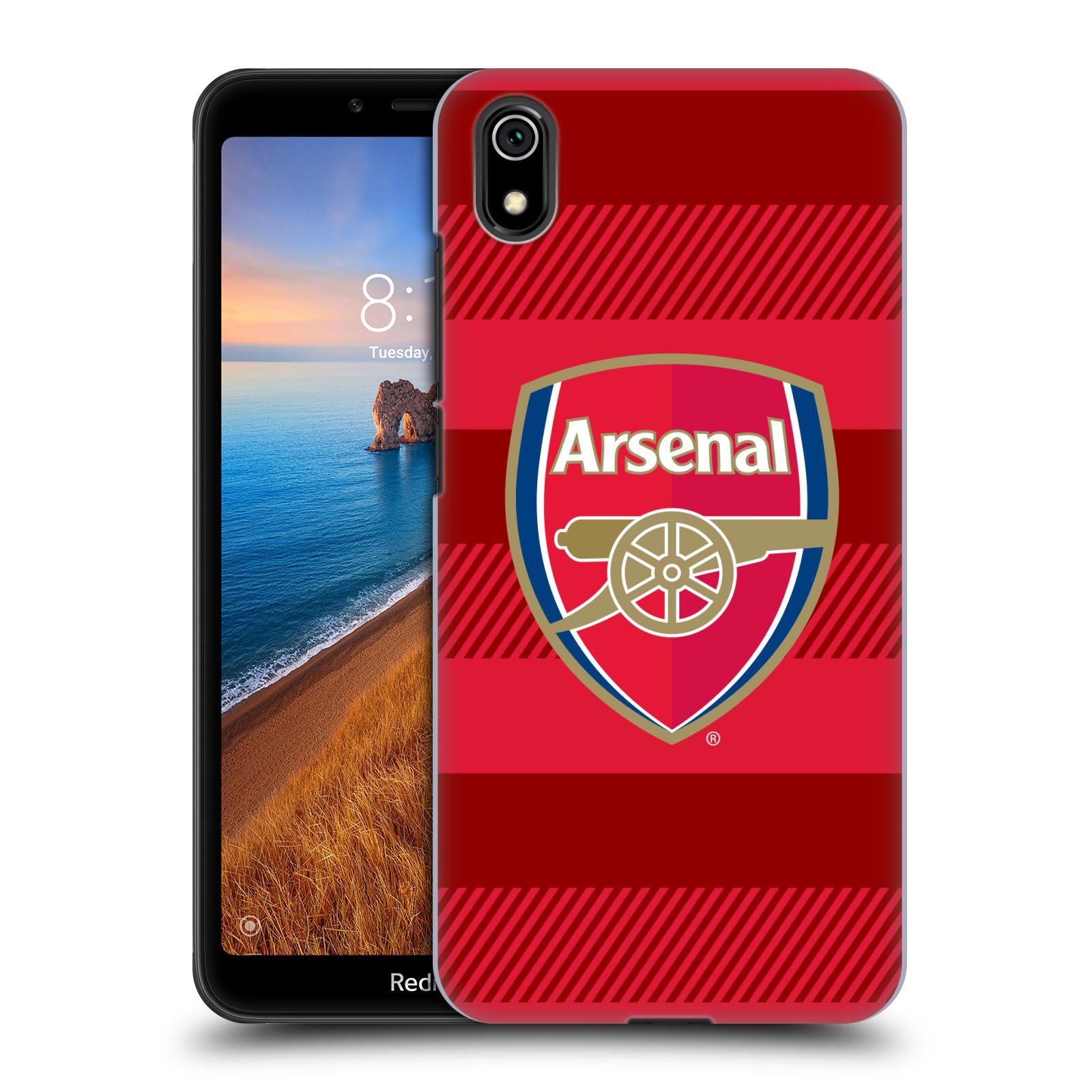 Plastové pouzdro na mobil Xiaomi Redmi 7A - Head Case - Arsenal FC - Logo s pruhy