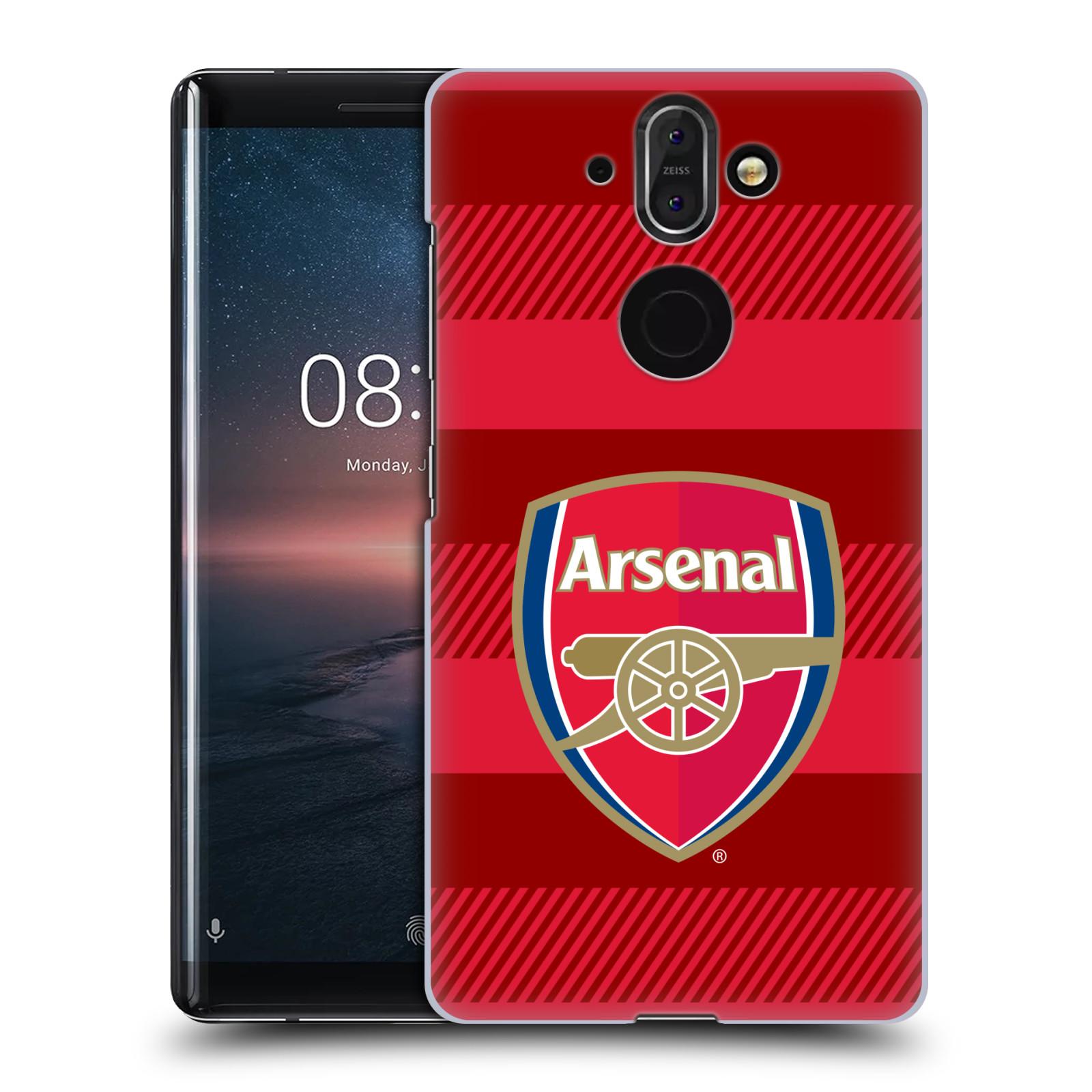 Plastové pouzdro na mobil Nokia 8 Sirocco - Head Case - Arsenal FC - Logo s pruhy