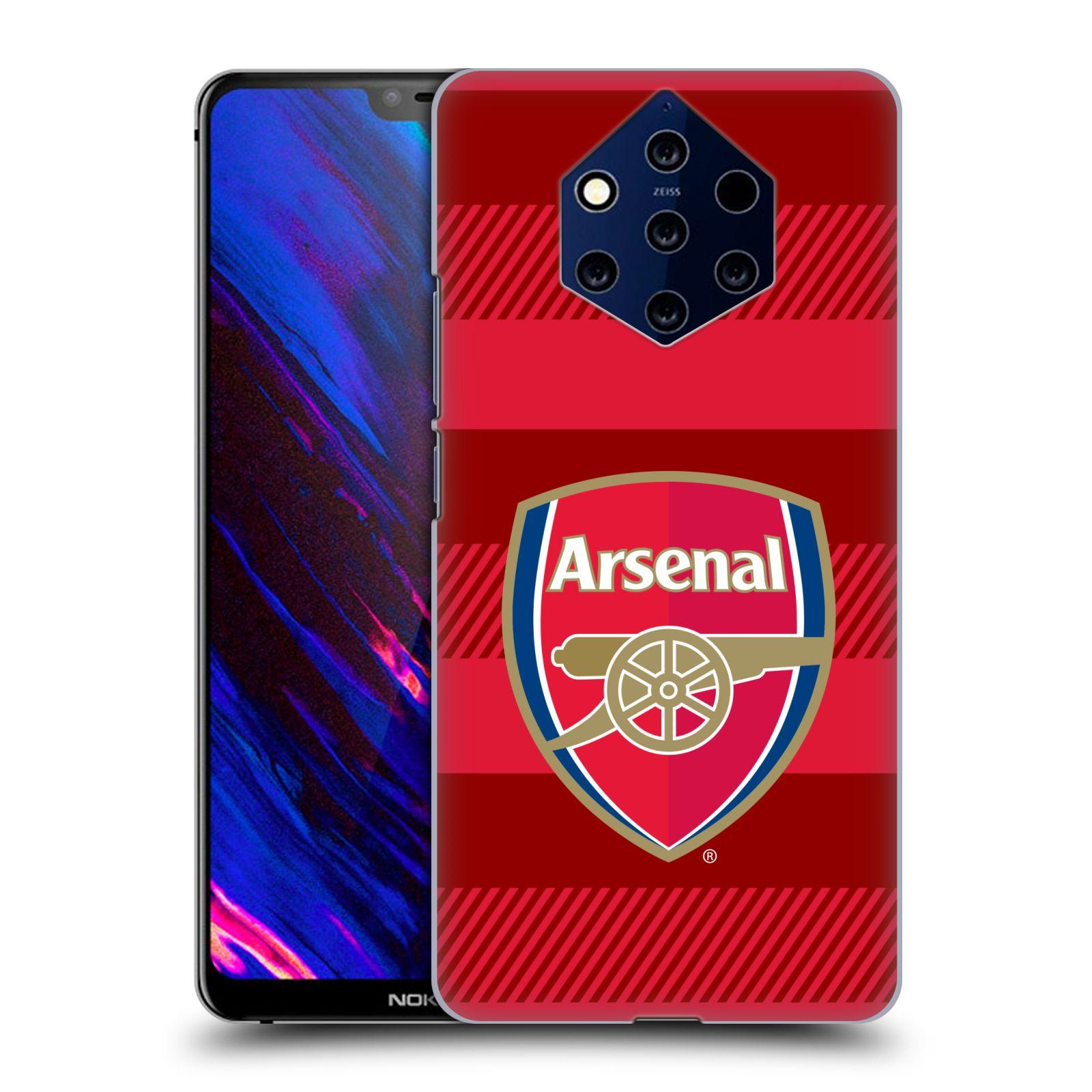 Plastové pouzdro na mobil Nokia 9 PureView - Head Case - Arsenal FC - Logo s pruhy