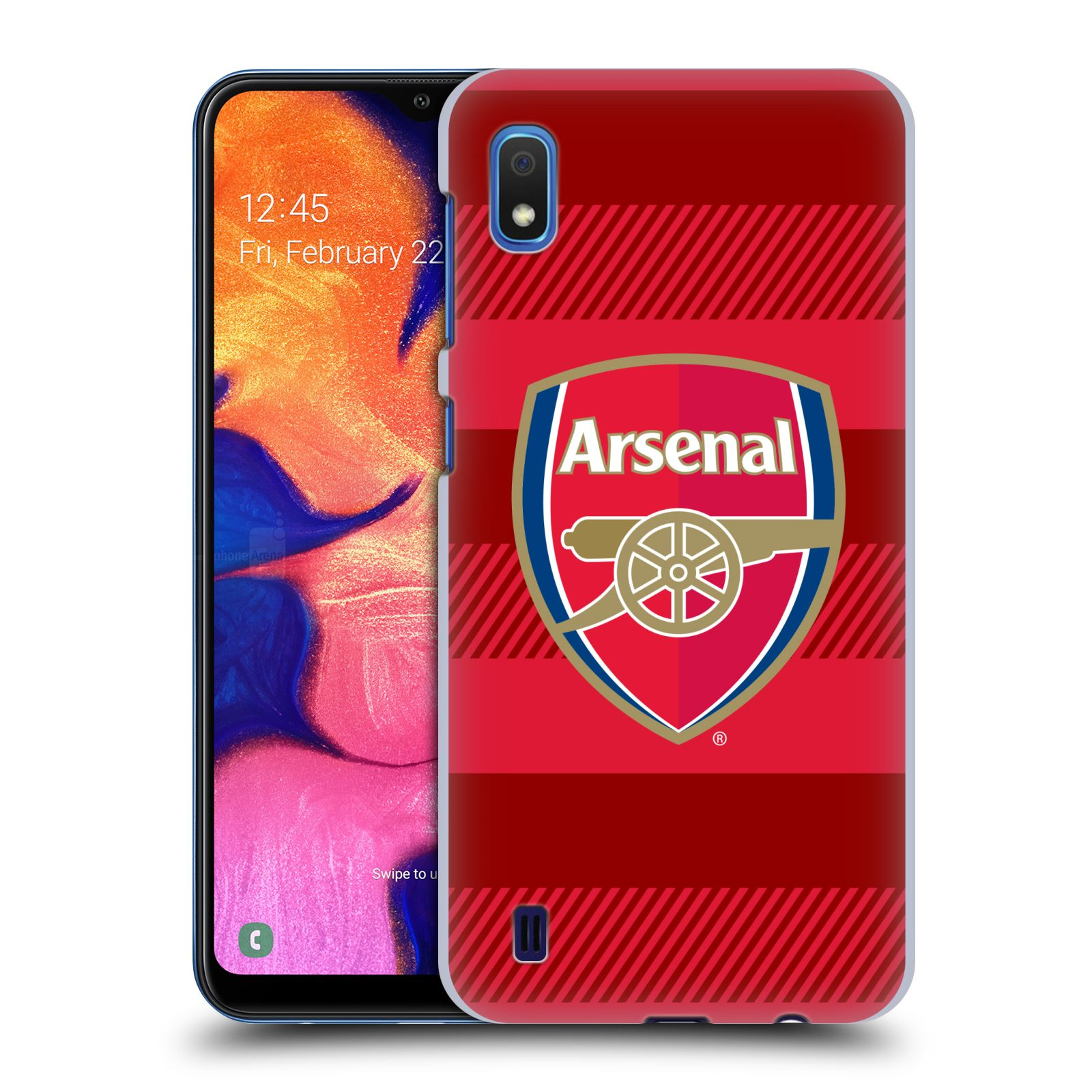 Plastové pouzdro na mobil Samsung Galaxy A10 - Head Case - Arsenal FC - Logo s pruhy