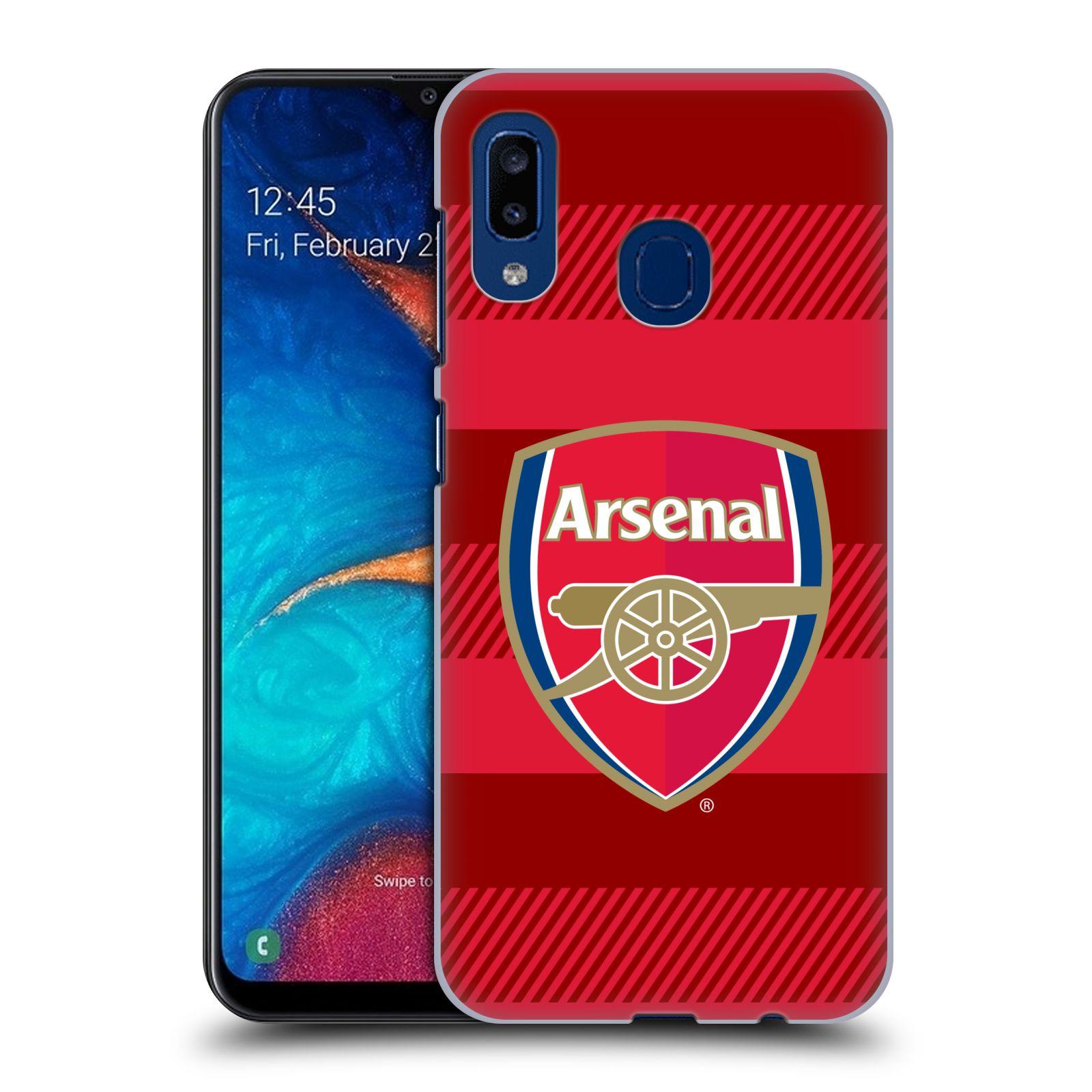 Plastové pouzdro na mobil Samsung Galaxy A20 - Head Case - Arsenal FC - Logo s pruhy