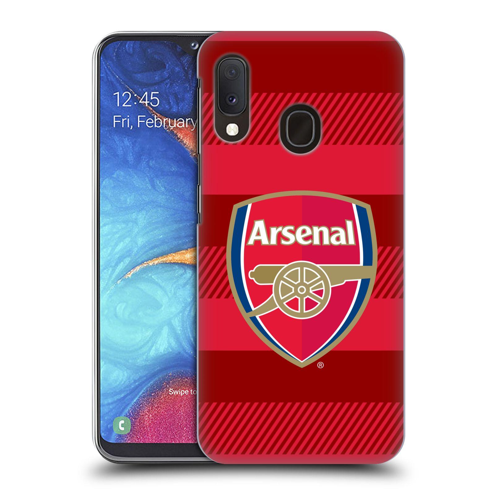 Plastové pouzdro na mobil Samsung Galaxy A20e - Head Case - Arsenal FC - Logo s pruhy