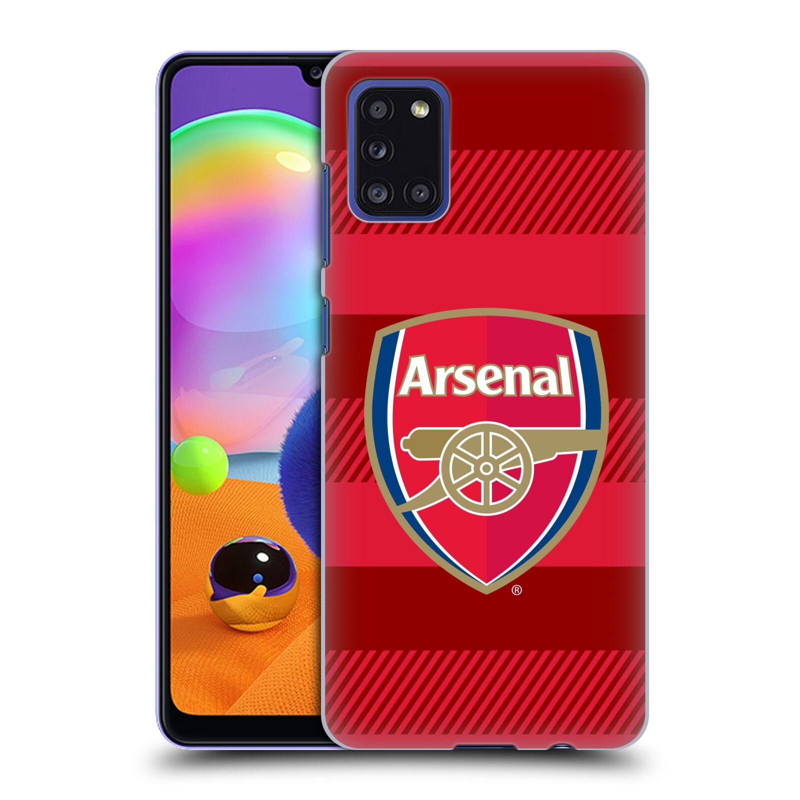 Plastové pouzdro na mobil Samsung Galaxy A31 - Head Case - Arsenal FC - Logo s pruhy
