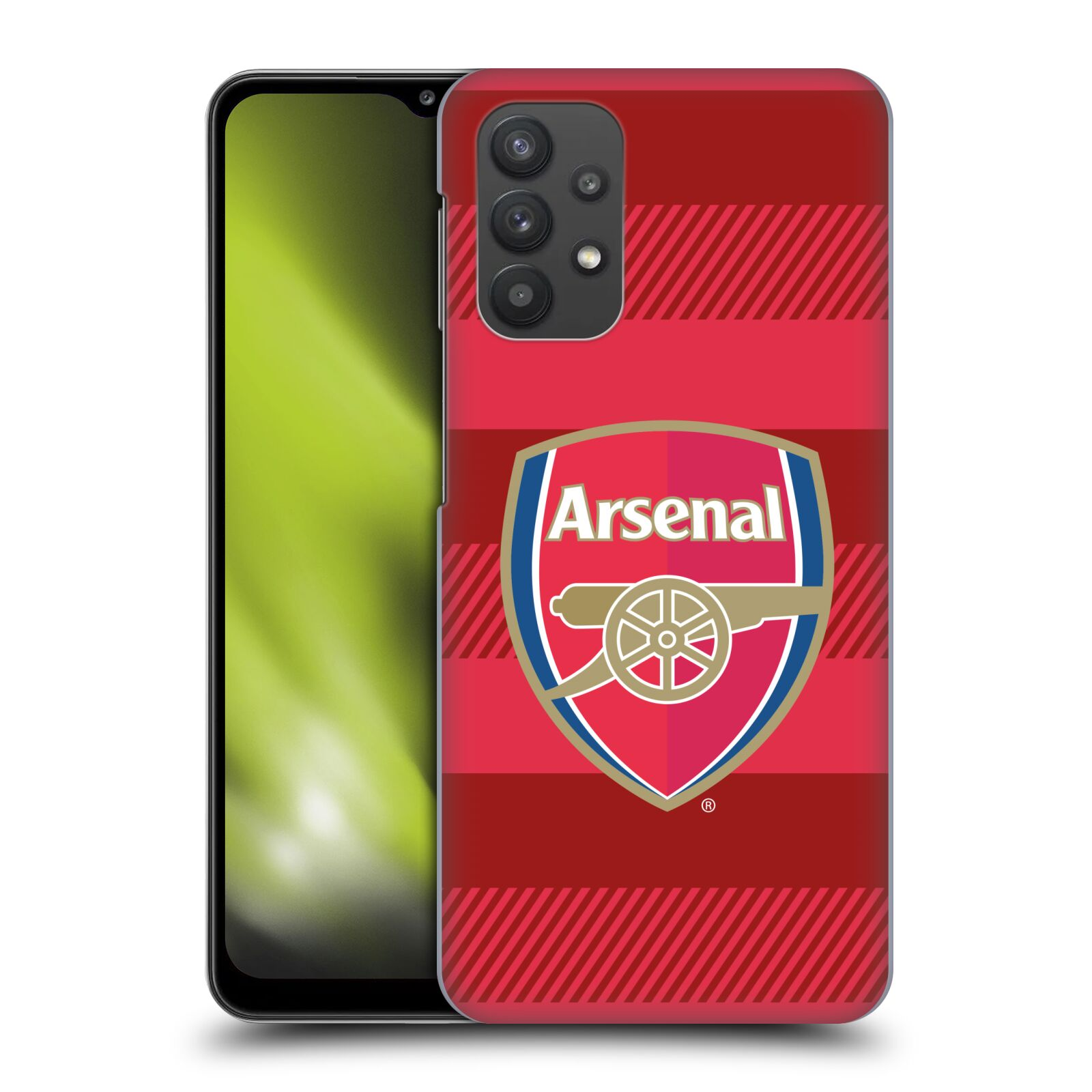 Plastové pouzdro na mobil Samsung Galaxy A32 5G - Head Case - Arsenal FC - Logo s pruhy