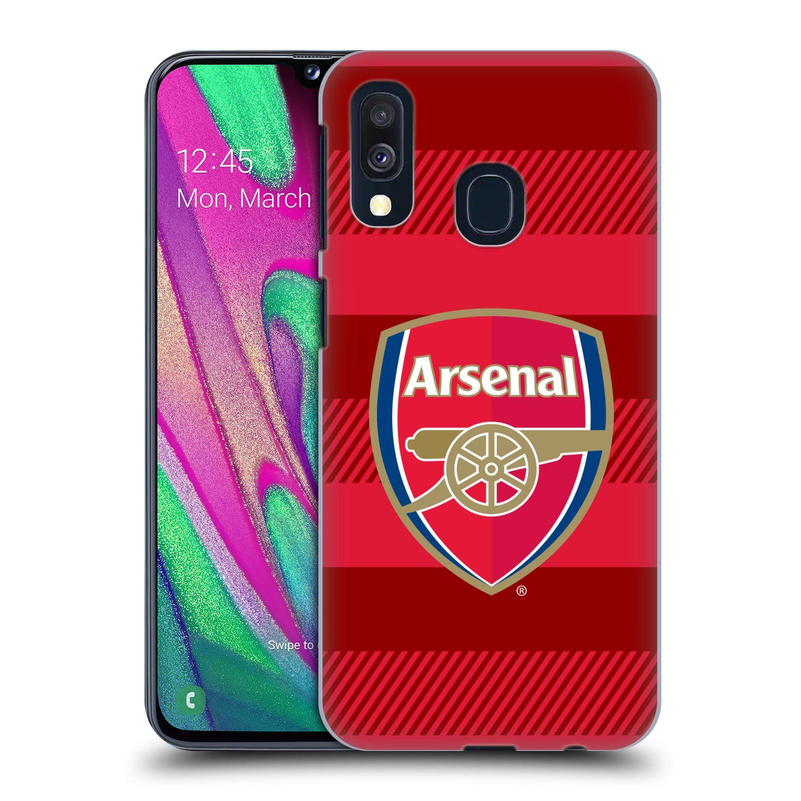 Plastové pouzdro na mobil Samsung Galaxy A40 - Head Case - Arsenal FC - Logo s pruhy