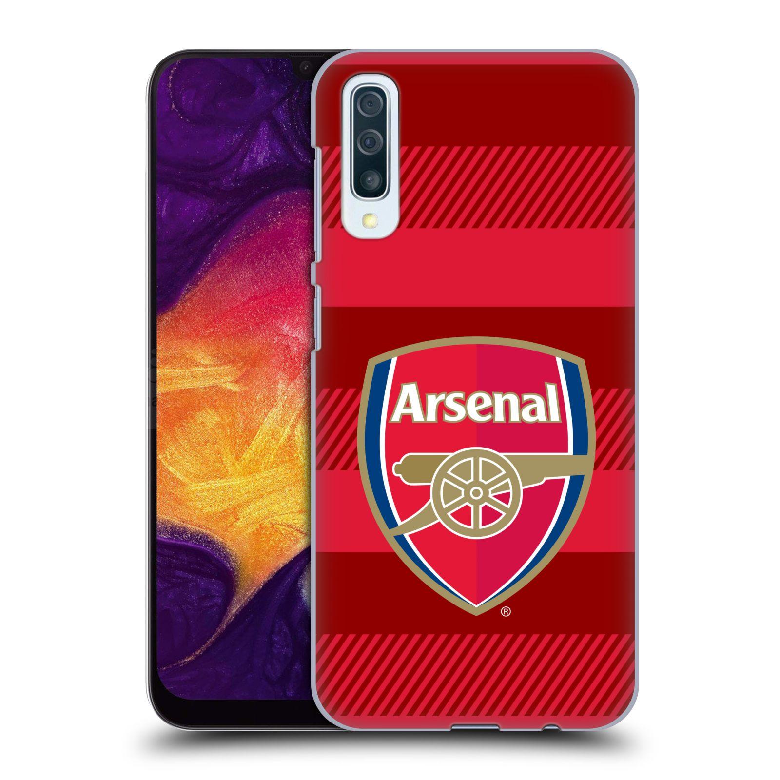 Plastové pouzdro na mobil Samsung Galaxy A50 - Head Case - Arsenal FC - Logo s pruhy