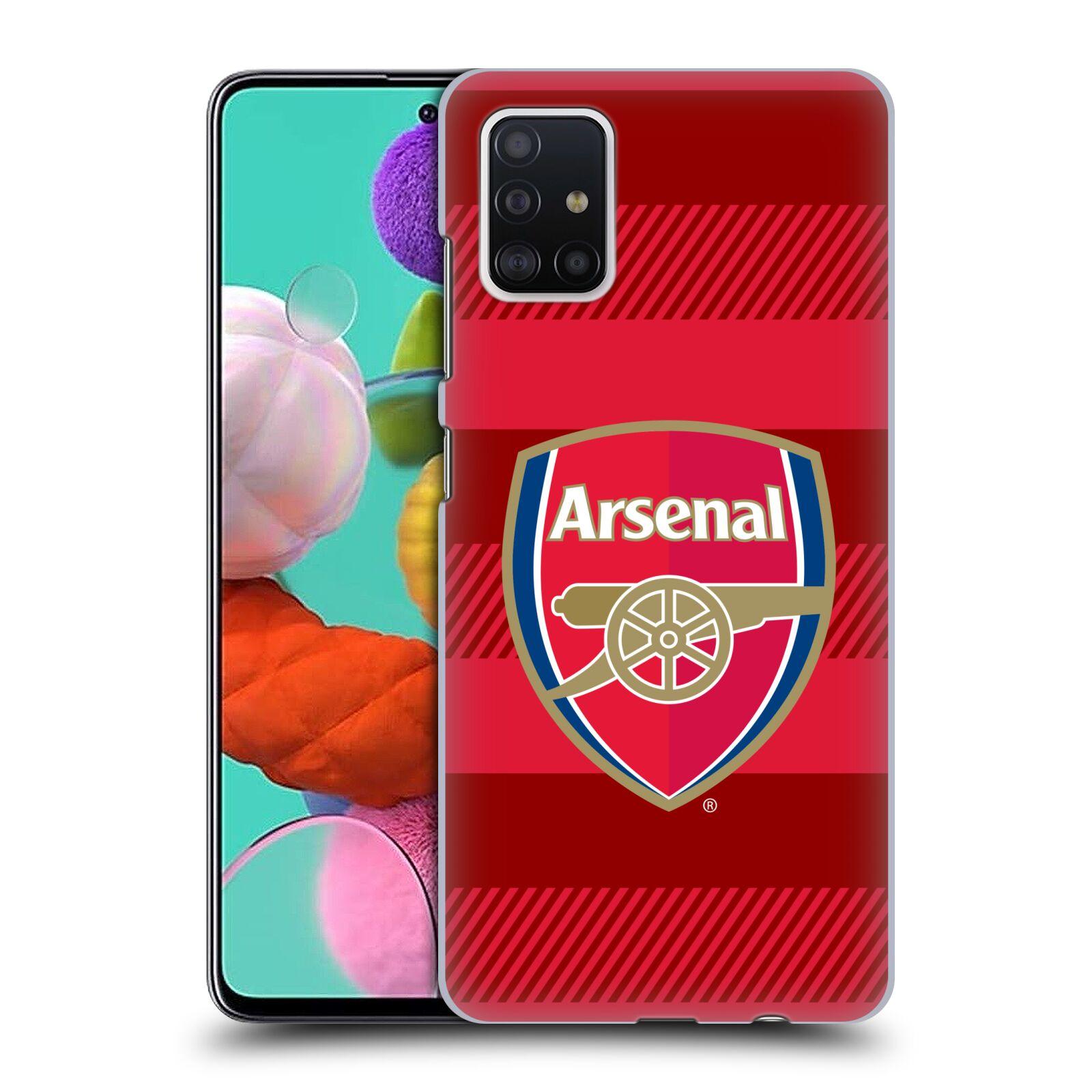 Plastové pouzdro na mobil Samsung Galaxy A51 - Head Case - Arsenal FC - Logo s pruhy