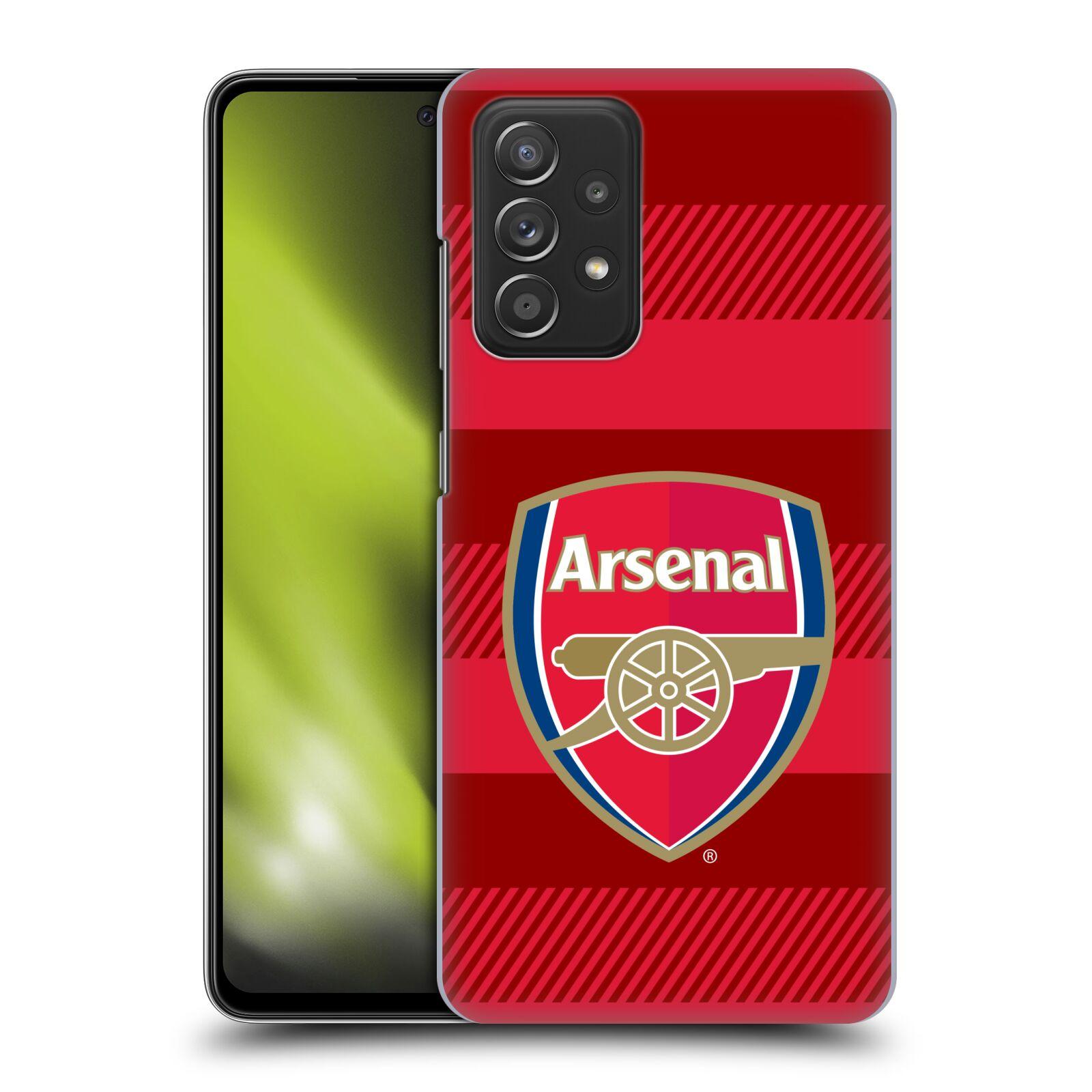 Plastové pouzdro na mobil Samsung Galaxy A52 / A52 5G / A52s 5G - Head Case - Arsenal FC - Logo s pruhy