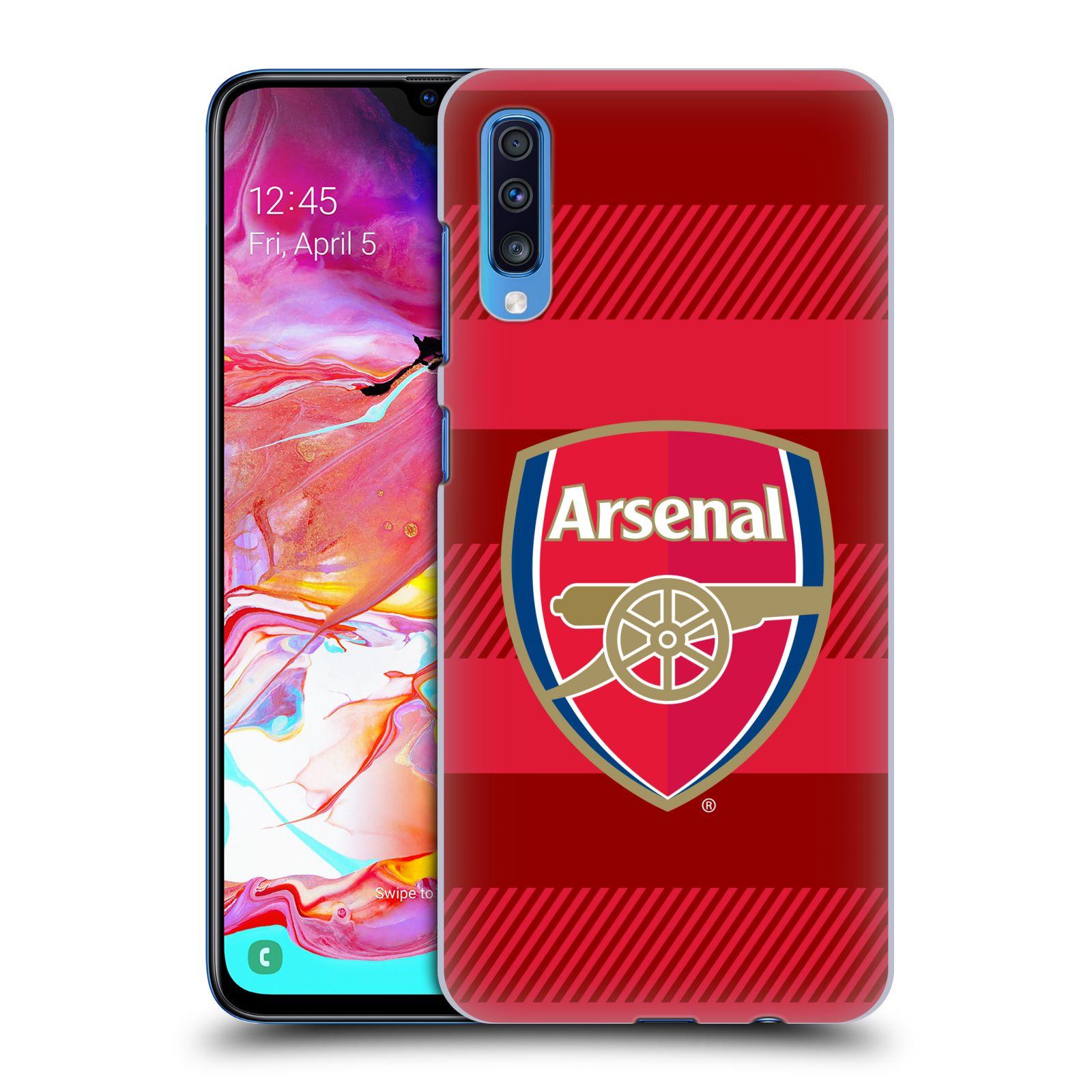 Plastové pouzdro na mobil Samsung Galaxy A70 - Head Case - Arsenal FC - Logo s pruhy