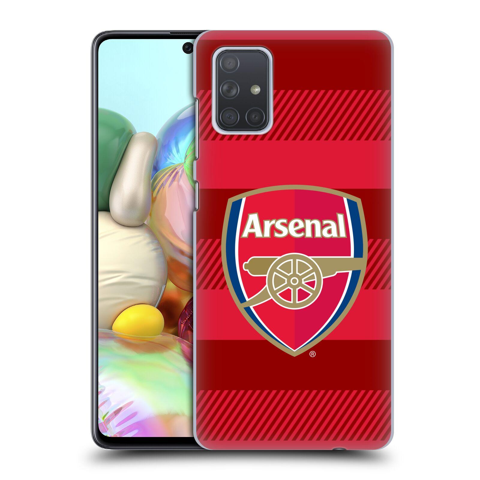 Plastové pouzdro na mobil Samsung Galaxy A71 - Head Case - Arsenal FC - Logo s pruhy