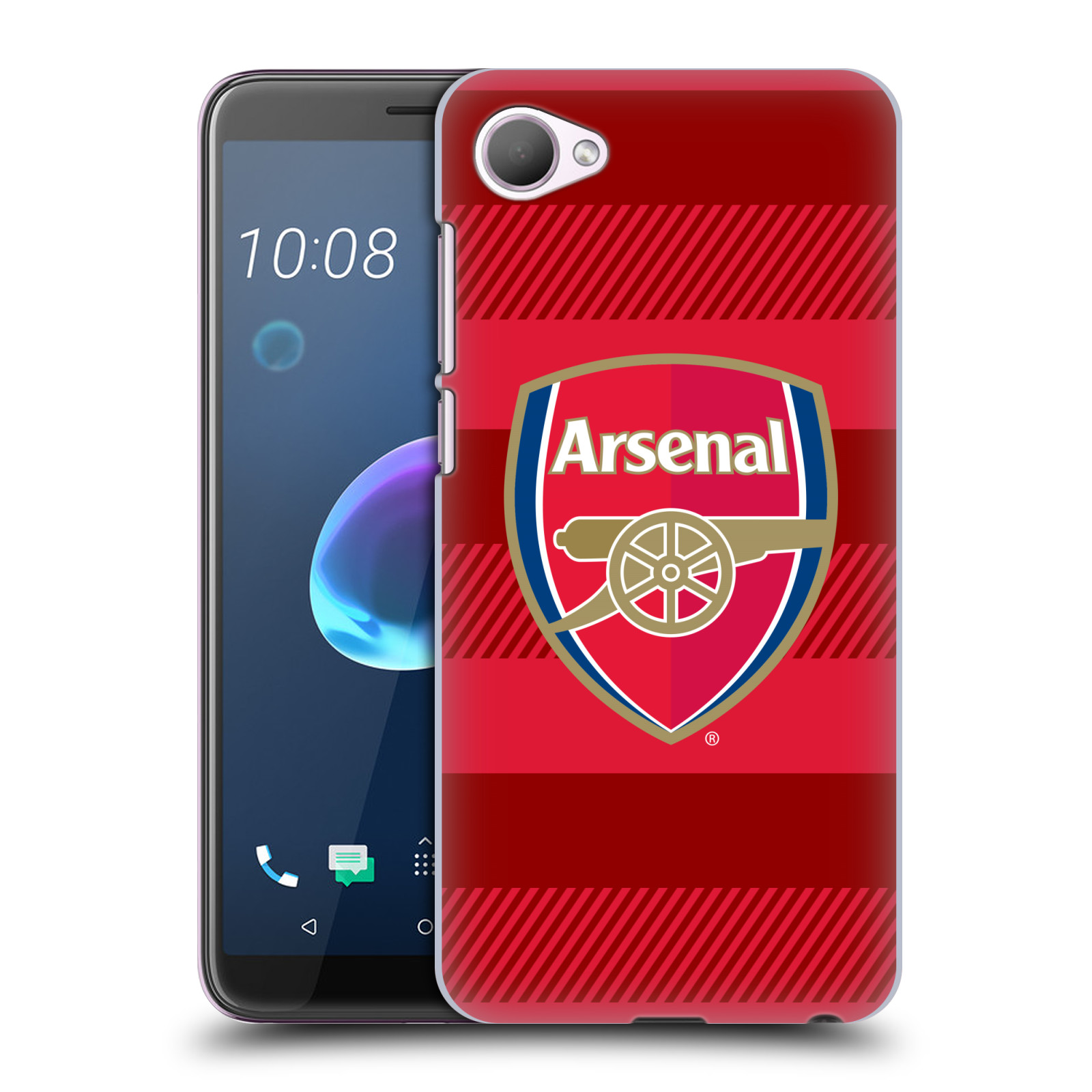 Plastové pouzdro na mobil HTC Desire 12 - Head Case - Arsenal FC - Logo s pruhy