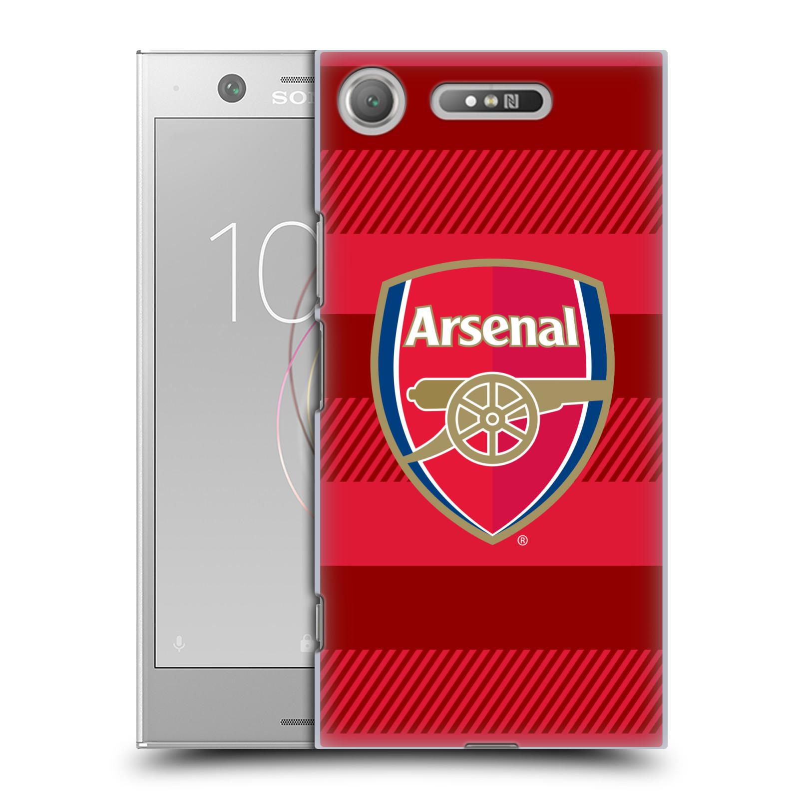 Plastové pouzdro na mobil Sony Xperia XZ1 - Head Case - Arsenal FC - Logo s pruhy