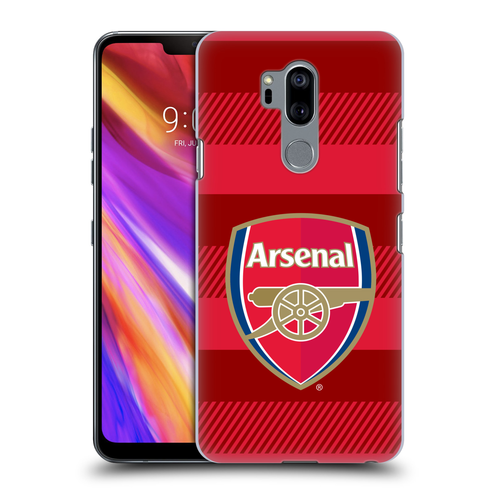Plastové pouzdro na mobil LG G7 ThinQ - Head Case - Arsenal FC - Logo s pruhy