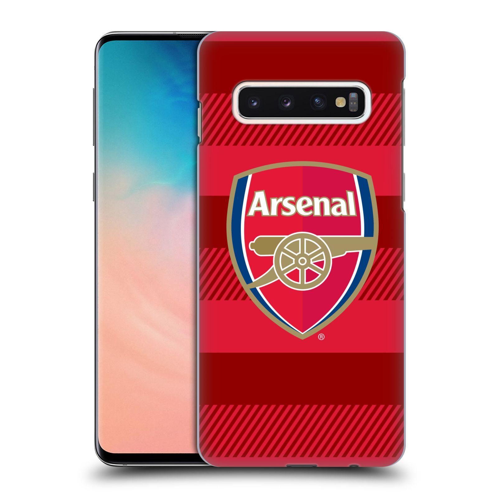Plastové pouzdro na mobil Samsung Galaxy S10 - Head Case - Arsenal FC - Logo s pruhy