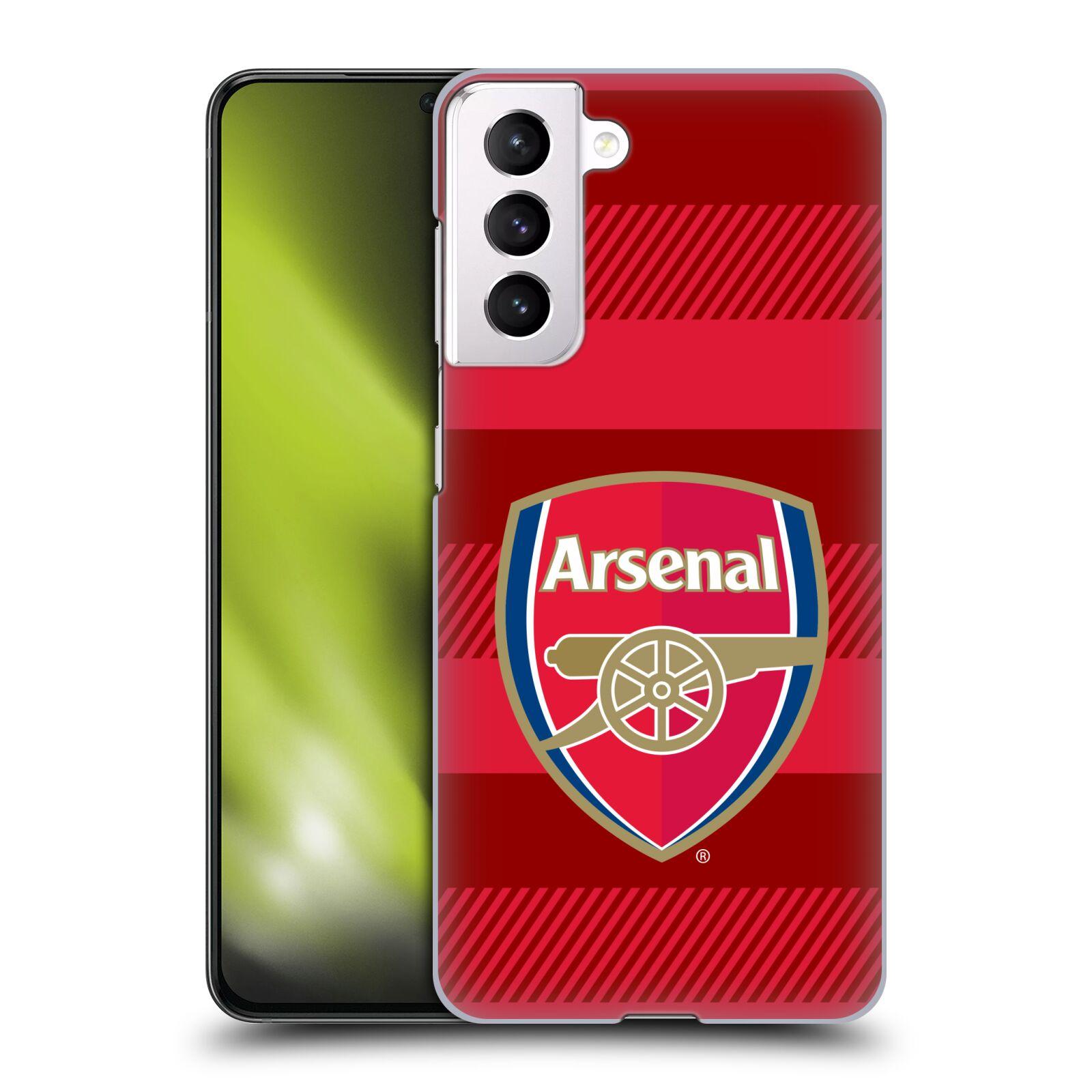 Plastové pouzdro na mobil Samsung Galaxy S21 5G - Head Case - Arsenal FC - Logo s pruhy