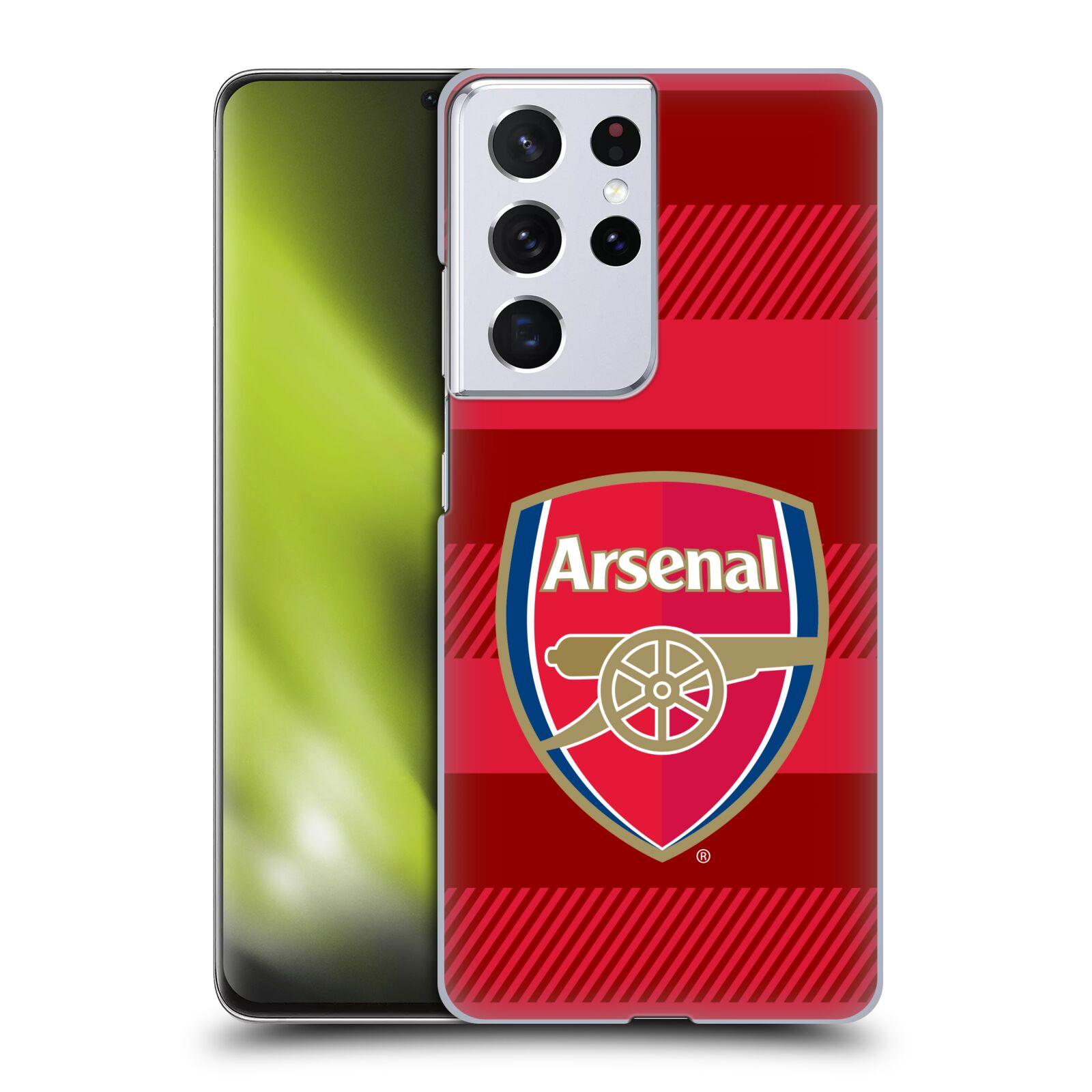 Plastové pouzdro na mobil Samsung Galaxy S21 Ultra 5G - Head Case - Arsenal FC - Logo s pruhy