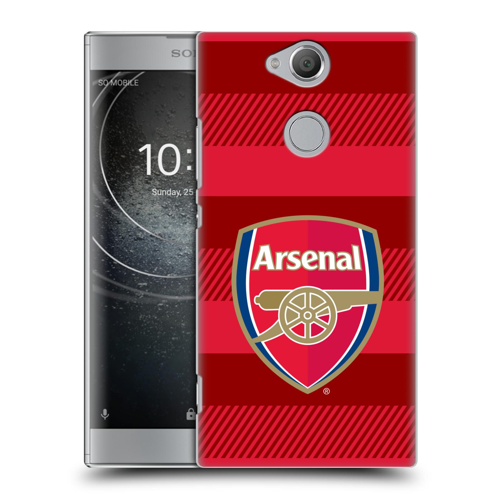 Plastové pouzdro na mobil Sony Xperia XA2 - Head Case - Arsenal FC - Logo s pruhy