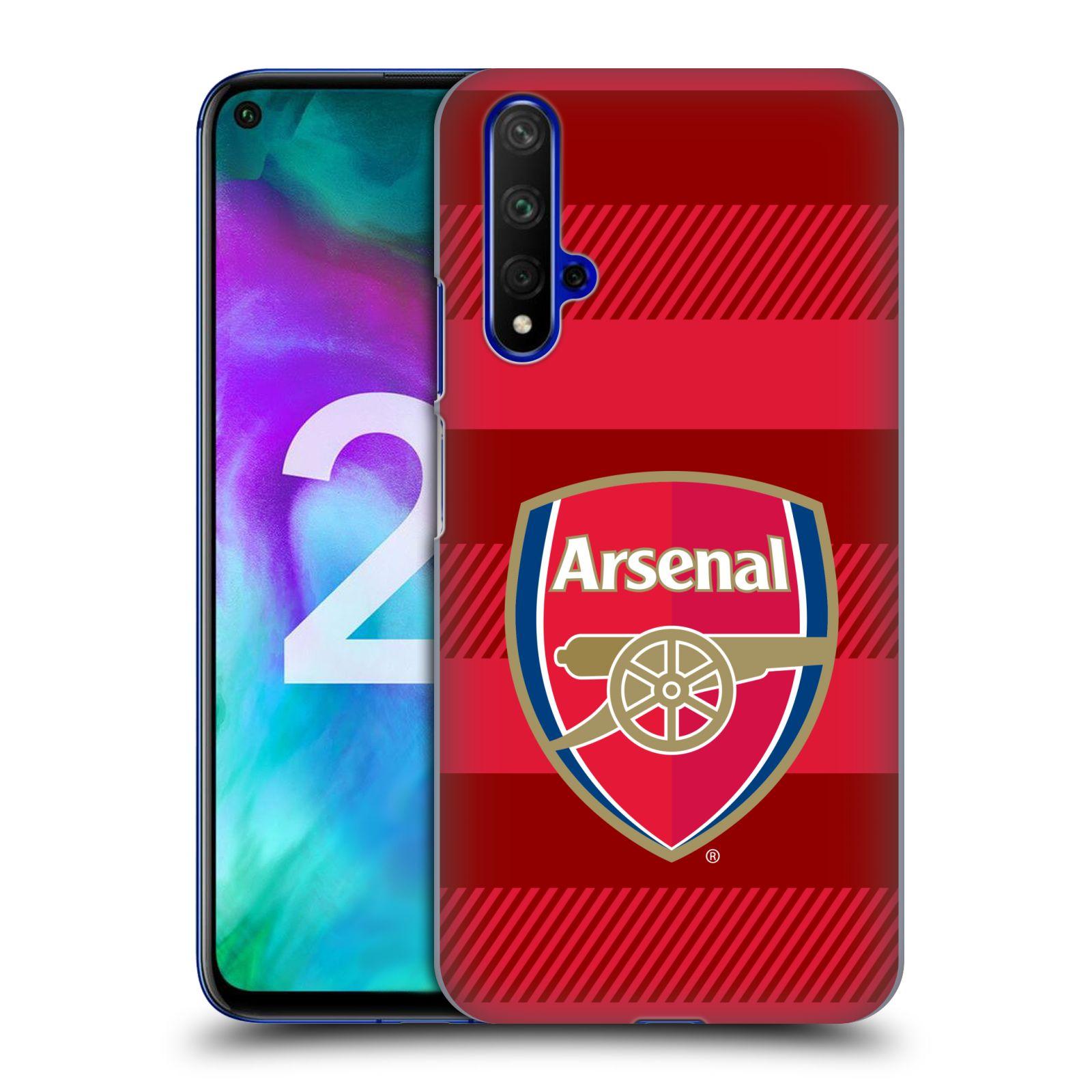 Plastové pouzdro na mobil Honor 20 - Head Case - Arsenal FC - Logo s pruhy