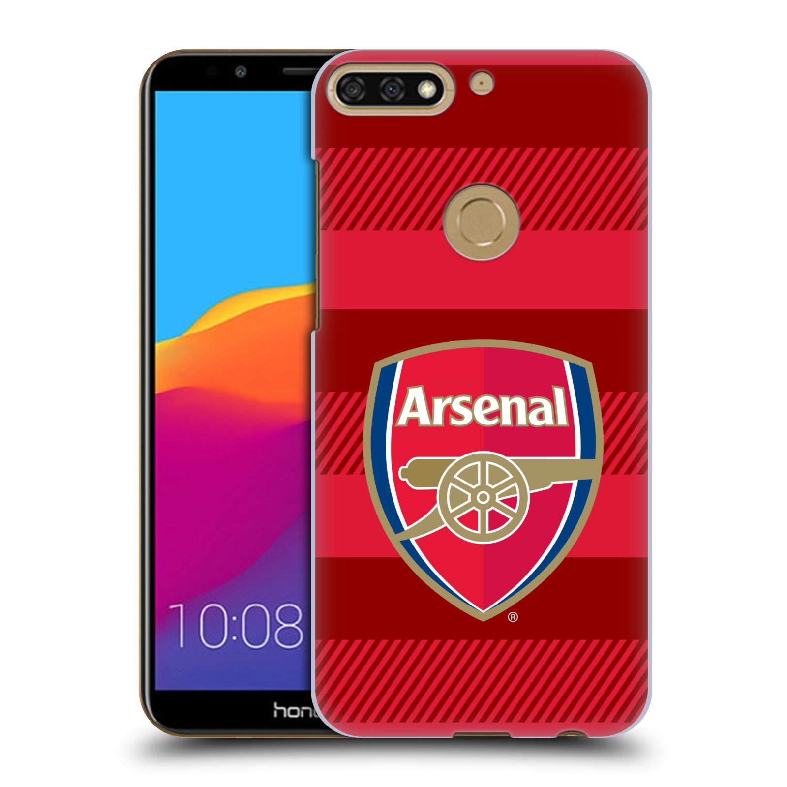 Plastové pouzdro na mobil Huawei Y7 Prime 2018 - Head Case - Arsenal FC - Logo s pruhy
