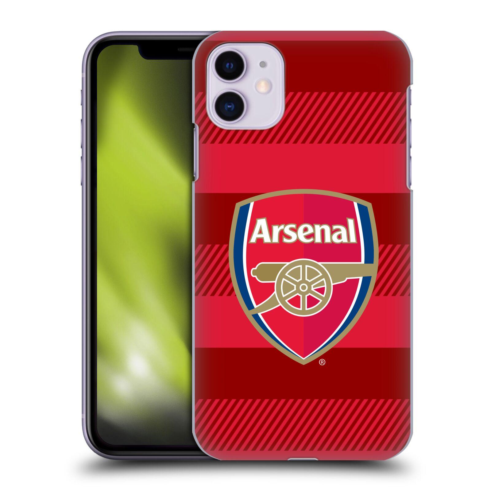 Plastové pouzdro na mobil Apple iPhone 11 - Head Case - Arsenal FC - Logo s pruhy