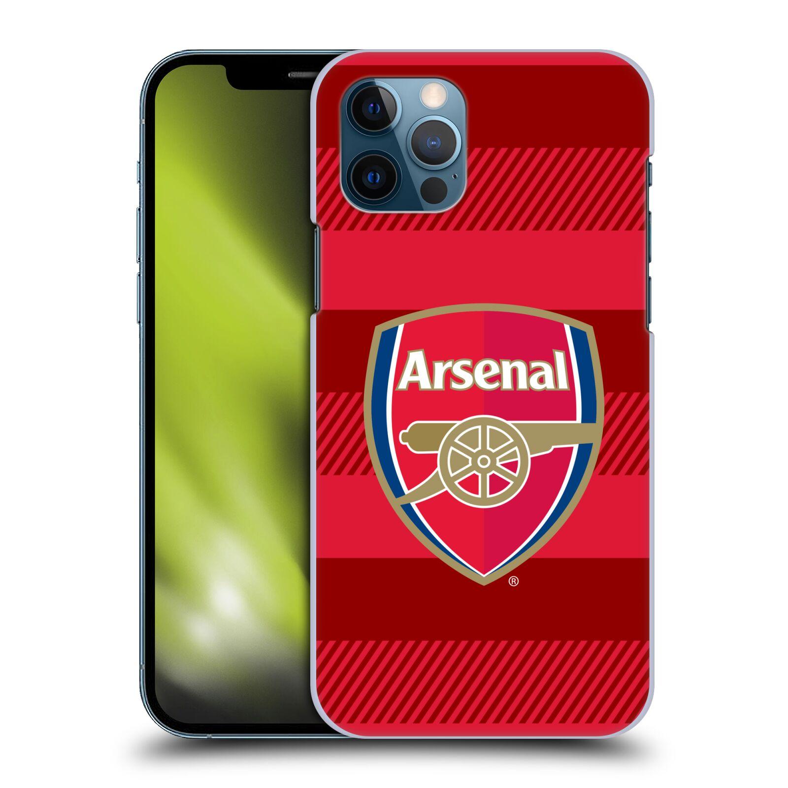 Plastové pouzdro na mobil Apple iPhone 12 / 12 Pro - Head Case - Arsenal FC - Logo s pruhy