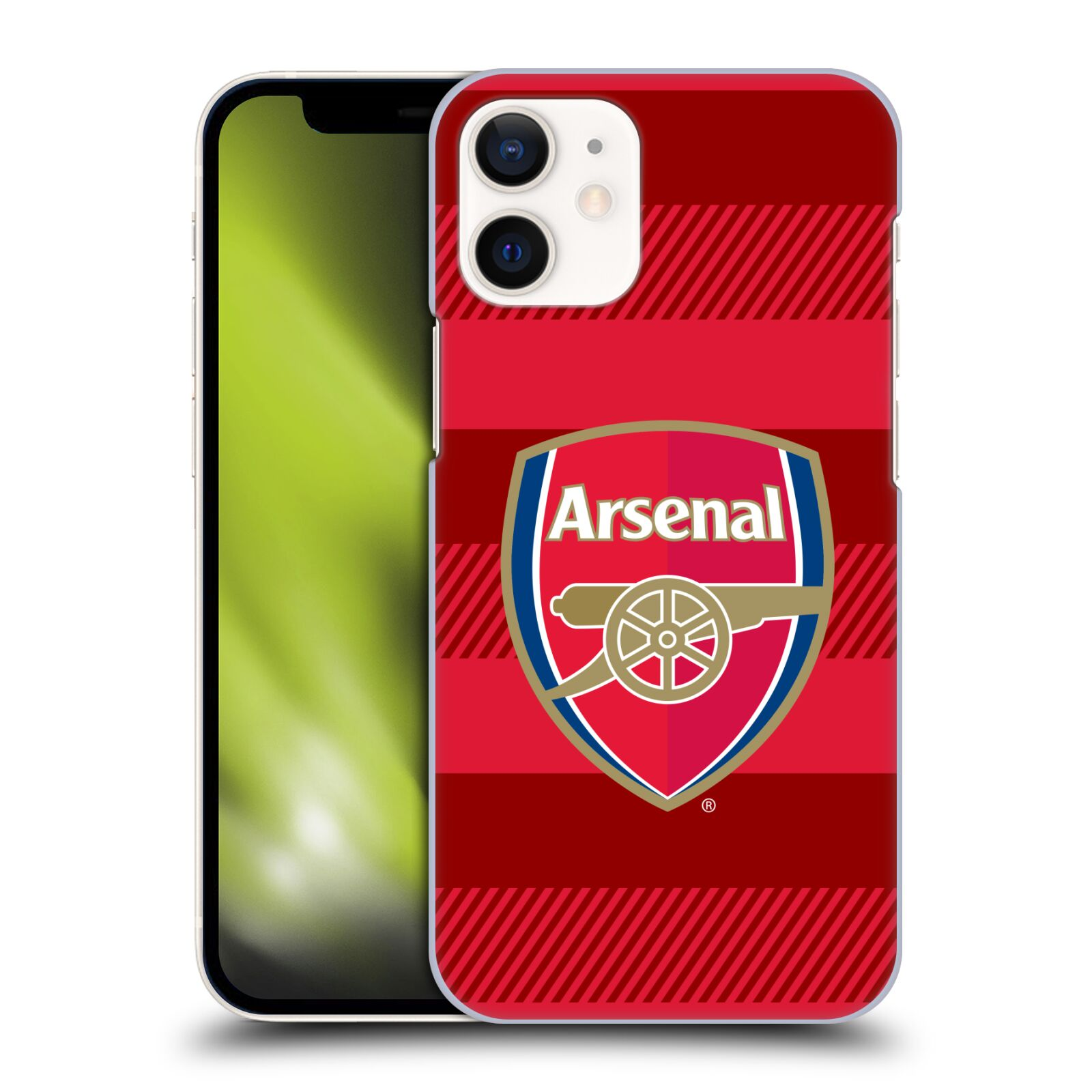 Plastové pouzdro na mobil Apple iPhone 12 Mini - Head Case - Arsenal FC - Logo s pruhy