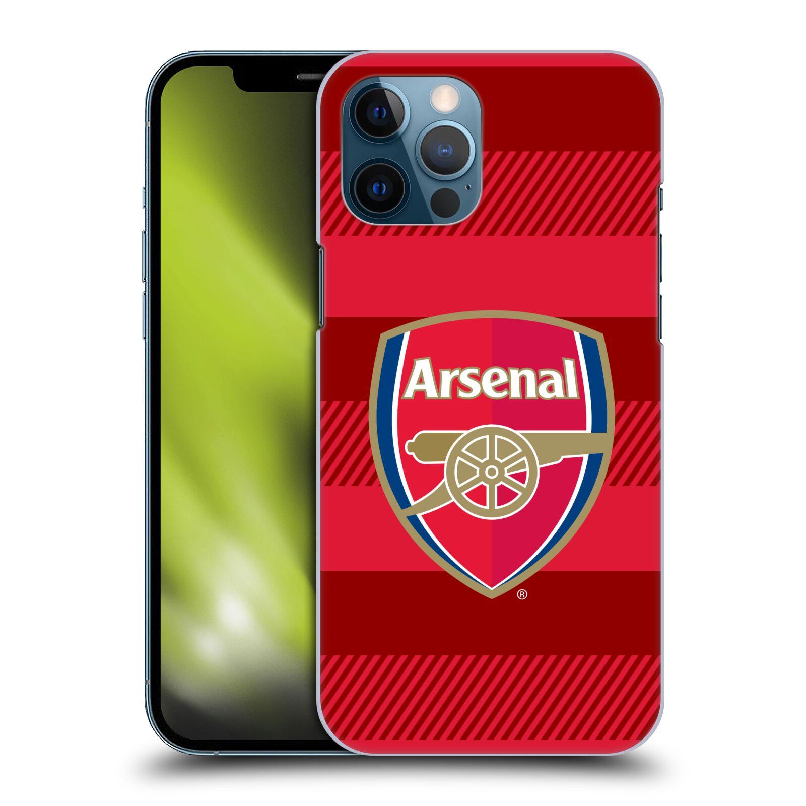 Plastové pouzdro na mobil Apple iPhone 12 Pro Max - Head Case - Arsenal FC - Logo s pruhy