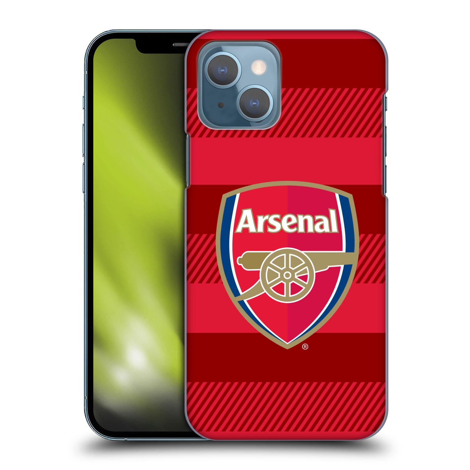 Plastové pouzdro na mobil Apple iPhone 13 - Head Case - Arsenal FC - Logo s pruhy